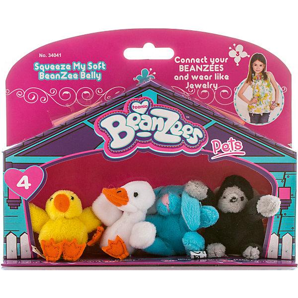 Мини-плюш в наборе Цыпленок, Утенок, Кролик, Горилла, BeanzeezМягкие игрушки животные<br>Характеристики товара:<br><br>- цвет: разноцветный;<br>- материал: текстиль;<br>- комплектация: 4 фигурки животных;<br>- особенности: наличие на лапках липучек, игрушку можно соединять с другими героями из серии;<br>- живот заполнен гранулами;<br>- размер упаковки: 5х15х19 см;<br>- упаковка: блистер;<br>- вес: 100 г.<br><br>Такая симпатичная игрушка не оставит ребенка равнодушным! Какой малыш откажется поиграть с маленькими плюшевыми игрушками из большой пушистой коллекции?! Игрушки очень качественно выполнены, поэтому такой набор станет отличным подарком ребенку. В наборе идет четыре плюшевых фигурки животных. С ними можно придумать множество сюжетов, разыгрывая которые, ребенок развивает мелкую моторику, воображение и творческое мышление.<br>Изделие произведено из высококачественного материала, безопасного для детей.<br><br>Мини-плюш в наборе Цыпленок, Утенок, Кролик, Горилла от бренда Beanzeez можно купить в нашем интернет-магазине.<br>Ширина мм: 50; Глубина мм: 150; Высота мм: 190; Вес г: 93; Возраст от месяцев: 36; Возраст до месяцев: 2147483647; Пол: Женский; Возраст: Детский; SKU: 5039898;