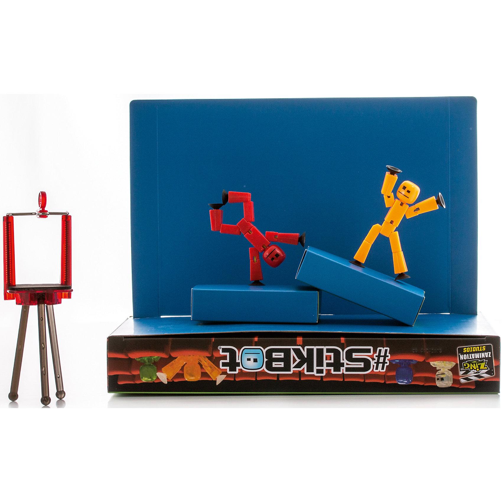 Анимационная студия-PRO, StikbotПрочие интерактивные игрушки<br>Характеристики товара:<br><br>- цвет: разноцветный;<br>- материал: пластик, металл;<br>- комплектация: 2 фигурки, зеленый/синий экран, 2 коробочки, штатив (тренога);<br>- особенности: для съемки роликов;<br>- размер фигурок: 8 см;<br>- размер упаковки: 5х31х30 см;<br>- вес: 450 г.<br><br>Такое увлекательное занятие, как съемка роликов или мультфильфов, не оставит ребенка равнодушным! Для этого кроме такого набора нужно только смартфон и специальное приложение! Снимать ролики с таким набором - очень легко, поэтому он станет отличным подарком ребенку. Такой комплект помогает развить логику, творческие способности ребенка, мышление, внимание, воображение и мелкую моторику.<br>Изделие произведено из высококачественного материала, безопасного для детей.<br><br>Анимационную студию-PRO от бренда CStikbot можно купить в нашем интернет-магазине.<br><br>Ширина мм: 50<br>Глубина мм: 310<br>Высота мм: 300<br>Вес г: 450<br>Возраст от месяцев: 48<br>Возраст до месяцев: 2147483647<br>Пол: Унисекс<br>Возраст: Детский<br>SKU: 5039905