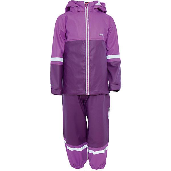 Непромокаемый комплект Waterman: куртка и брюки для девочки DIDRIKSONSВерхняя одежда<br>Характеристики товара:<br><br>• цвет: розовый<br>• материал: 100% полиуретан, подкладка - 100% полиэстер<br>• утеплитель: 60 г/м<br>• температура: от +5° до +12° С<br>• непромокаемая ткань<br>• подкладка из флиса<br>• проклеенные швы<br>• регулируемый съемный капюшон<br>• регулируемый пояс брюк<br>• фронтальная молния под планкой<br>• светоотражающие детали<br>• зона коленей усилена дополнительным слоем ткани<br>• грязь легко удаляется с помощью влажной губки или ткани<br>• резинки для ботинок<br>• страна бренда: Швеция<br>• страна производства: Китай<br><br>Такой непромокаемый костюм понадобится в холодную и сырую погоду! Он не только стильный, но еще и очень комфортный. Костюм обеспечит ребенку удобство при прогулках и активном отдыхе в межсезонье или оттепель. Такая модель от шведского производителя легко чистится, она оснащена разными полезными деталями.<br>Материал костюма - непромокаемый, швы дополнительно проклеены. Очень стильная и удобная модель! Изделие качественно выполнено, сделано из безопасных для детей материалов. <br><br>Комплект: куртку и брюки для девочки от бренда DIDRIKSONS можно купить в нашем интернет-магазине.<br><br>Ширина мм: 356<br>Глубина мм: 10<br>Высота мм: 245<br>Вес г: 519<br>Цвет: розовый<br>Возраст от месяцев: 6<br>Возраст до месяцев: 12<br>Пол: Женский<br>Возраст: Детский<br>Размер: 70,80,100,90,120,110<br>SKU: 5043804