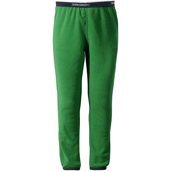 Брюки флисовые Monte DIDRIKSONSФлис и термобелье<br>Характеристики товара:<br><br>• цвет: зеленый<br>• материал: 100% полиэстер<br>• флис<br>• резинка на поясе<br>• можно надевать под одежду<br>• страна бренда: Швеция<br>• страна производства: Китай<br><br>Такие мягкие брюки сейчас очень популярны у детей! Это не только стильно, но еще и очень комфортно, а также тепло. Качественные флисовые брюки обеспечат ребенку удобство при прогулках и активном отдыхе в прохладные дне, в межсезонье или зимой. Такая модель от шведского производителя легко стирается, подходит под разные погодные условия.<br>Модель сшита из качественной мягкой ткани, которая позволяет телу дышать, она очень приятна на ощупь. Очень стильная и удобная модель! Изделие качественно выполнено, сделано из безопасных для детей материалов. <br><br>Брюки от бренда DIDRIKSONS можно купить в нашем интернет-магазине.<br><br>Ширина мм: 215<br>Глубина мм: 88<br>Высота мм: 191<br>Вес г: 336<br>Цвет: зеленый<br>Возраст от месяцев: 12<br>Возраст до месяцев: 15<br>Пол: Унисекс<br>Возраст: Детский<br>Размер: 80,90<br>SKU: 5043871
