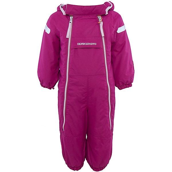 Комбинезон Borga для девочки DIDRIKSONSВерхняя одежда<br>Характеристики товара:<br><br>• цвет: фиолетовый<br>• материал: 100% полиамид, подкладка 100% полиэстер<br>• утеплитель: 120 г/м<br>• сезон: зима<br>• температурный режим от +5 до -20С<br>• непромокаемая и непродуваемая ткань<br>• манжеты и низ штанин на резинке<br>• дополнительная пропитка верха<br>• прокленные швы<br>• регулируемый съемный капюшон<br>• две фронтальных молнии<br>• светоотражающие детали<br>• страна бренда: Швеция<br>• страна производства: Бангладеш<br><br>Такой комбинезон незаменим дя малышей в межсезонье! Это не только стильно, но еще и очень комфортно, а также тепло. Он обеспечит ребенку удобство при прогулках. Комбинезон от шведского производителя легко трансформируется под погодные условия.<br>Модель сшита из непродуваемой ткани, она еще и не продувается. Очень стильная и удобная модель! Изделие качественно выполнено, сделано из безопасных для детей материалов. <br><br>Комбинезон для девочки от бренда DIDRIKSONS можно купить в нашем интернет-магазине.<br><br>Ширина мм: 356<br>Глубина мм: 10<br>Высота мм: 245<br>Вес г: 519<br>Цвет: лиловый<br>Возраст от месяцев: 4<br>Возраст до месяцев: 6<br>Пол: Женский<br>Возраст: Детский<br>Размер: 60,80,70<br>SKU: 5043914
