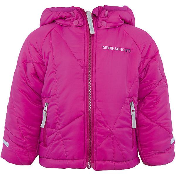 Куртка Coddi для девочки DIDRIKSONSВерхняя одежда<br>Характеристики товара:<br><br>• цвет: фиолетовый<br>• материал: 100% полиамид, подкладка 100% полиэстер<br>• утеплитель: 240 г/м<br>• сезон: зима<br>• температурный режим от +5 до -20С<br>• дополнительная пропитка верха<br>• съемный капюшон<br>• фронтальная молния <br>• светоотражающие детали<br>• можно увеличить длину рукавов на один размер <br>• страна бренда: Швеция<br>• страна производства: Бангладеш<br><br>Такая куртка поможет малышам наслаждаться зимним отдыхом даже в морозы! Это не только стильно, но еще и очень комфортно, а также тепло. Эта качественная куртка обеспечит ребенку удобство при прогулках и активном отдыхе зимой. Такая модель от шведского производителя легко трансформируется под рост ребенка и погодные условия.<br>Куртка сшита из легкого материала с дополнительной пропиткой. Очень стильная и удобная модель! Изделие качественно выполнено, сделано из безопасных для детей материалов. <br><br>Куртку для девочки от бренда DIDRIKSONS можно купить в нашем интернет-магазине.<br>Ширина мм: 356; Глубина мм: 10; Высота мм: 245; Вес г: 519; Цвет: лиловый; Возраст от месяцев: 108; Возраст до месяцев: 120; Пол: Женский; Возраст: Детский; Размер: 140,80,130,120,110,100; SKU: 5043926;