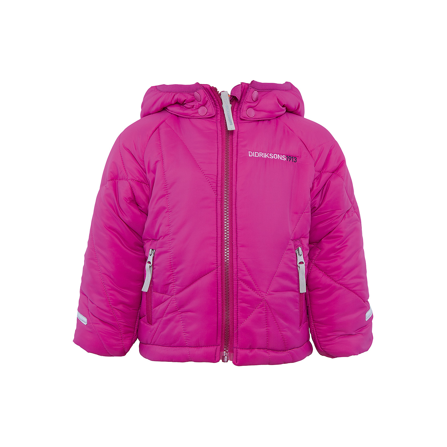 Куртка Coddi для девочки DIDRIKSONSВерхняя одежда<br>Характеристики товара:<br><br>• цвет: фиолетовый<br>• материал: 100% полиамид, подкладка 100% полиэстер<br>• утеплитель: 240 г/м<br>• сезон: зима<br>• температурный режим от +5 до -20С<br>• дополнительная пропитка верха<br>• съемный капюшон<br>• фронтальная молния <br>• светоотражающие детали<br>• можно увеличить длину рукавов на один размер <br>• страна бренда: Швеция<br>• страна производства: Бангладеш<br><br>Такая куртка поможет малышам наслаждаться зимним отдыхом даже в морозы! Это не только стильно, но еще и очень комфортно, а также тепло. Эта качественная куртка обеспечит ребенку удобство при прогулках и активном отдыхе зимой. Такая модель от шведского производителя легко трансформируется под рост ребенка и погодные условия.<br>Куртка сшита из легкого материала с дополнительной пропиткой. Очень стильная и удобная модель! Изделие качественно выполнено, сделано из безопасных для детей материалов. <br><br>Куртку для девочки от бренда DIDRIKSONS можно купить в нашем интернет-магазине.<br><br>Ширина мм: 356<br>Глубина мм: 10<br>Высота мм: 245<br>Вес г: 519<br>Цвет: лиловый<br>Возраст от месяцев: 108<br>Возраст до месяцев: 120<br>Пол: Женский<br>Возраст: Детский<br>Размер: 140,80,100,110,120,130<br>SKU: 5043926