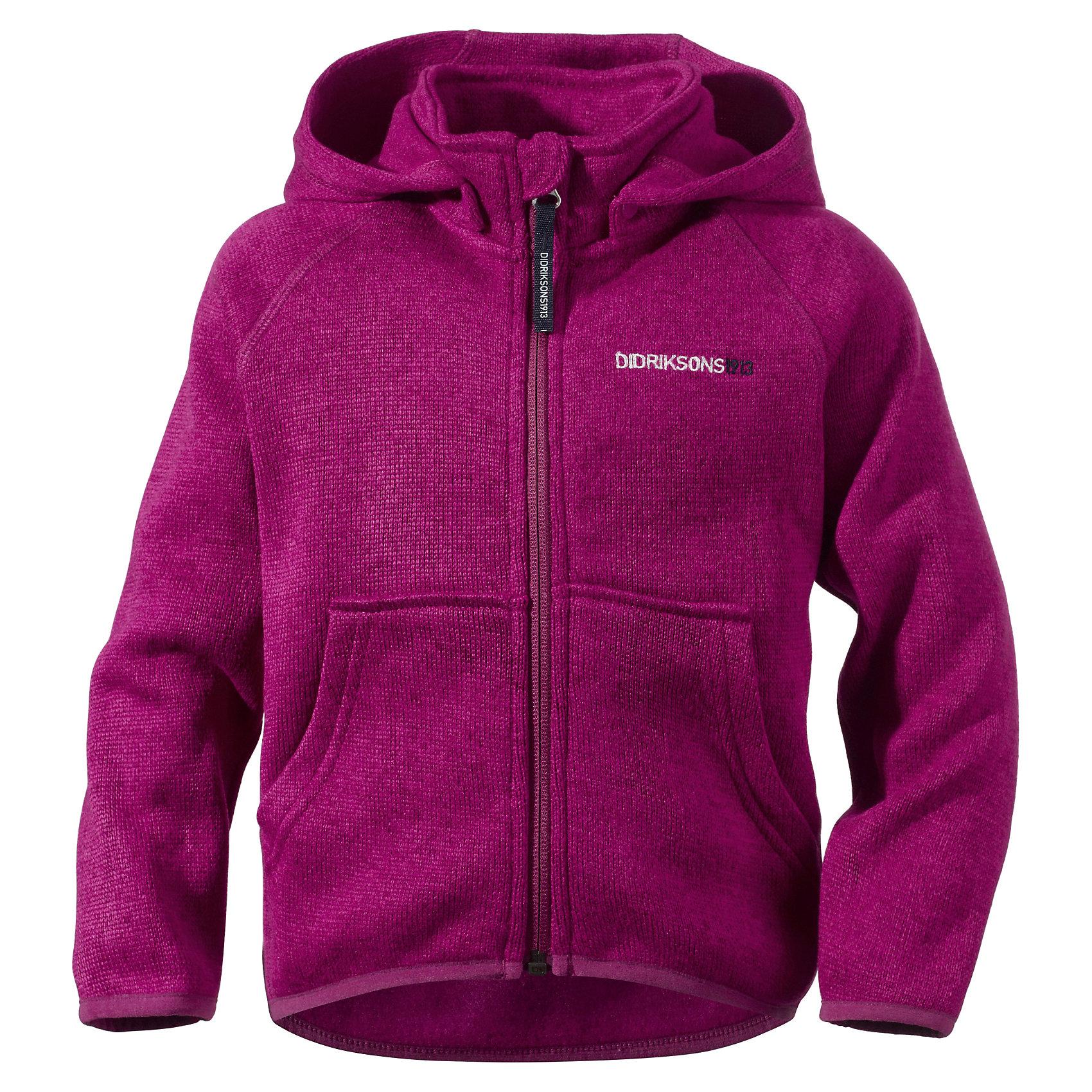 Куртка флисовая Etna для девочки DIDRIKSONSХарактеристики товара:<br><br>• цвет: фиолетовый<br>• материал: 100% полиэстер<br>• вязаный флис<br>• длинные рукава<br>• украшена вышивкой<br>• карманы кенгуру<br>• съемный капюшон<br>• фронтальная молния<br>• страна бренда: Швеция<br>• страна производства: Китай<br><br>Такие мягкие куртки сейчас очень популярны у детей! Это не только стильно, но еще и очень комфортно, а также тепло. Такая качественная куртка обеспечит ребенку удобство при прогулках и активном отдыхе в прохладные дне, в межсезонье или зимой. Эта модель от шведского производителя легко стирается, подходит под разные погодные условия.<br>Куртка сшита из качественной мягкой ткани, которая позволяет телу дышать, она очень приятна на ощупь. Очень стильная и удобная модель! Изделие качественно выполнено, сделано из безопасных для детей материалов. <br><br>Куртку для девочки от бренда DIDRIKSONS можно купить в нашем интернет-магазине.<br><br>Ширина мм: 356<br>Глубина мм: 10<br>Высота мм: 245<br>Вес г: 519<br>Цвет: фиолетовый<br>Возраст от месяцев: 84<br>Возраст до месяцев: 96<br>Пол: Женский<br>Возраст: Детский<br>Размер: 130,120,110,100,80,140<br>SKU: 5043963