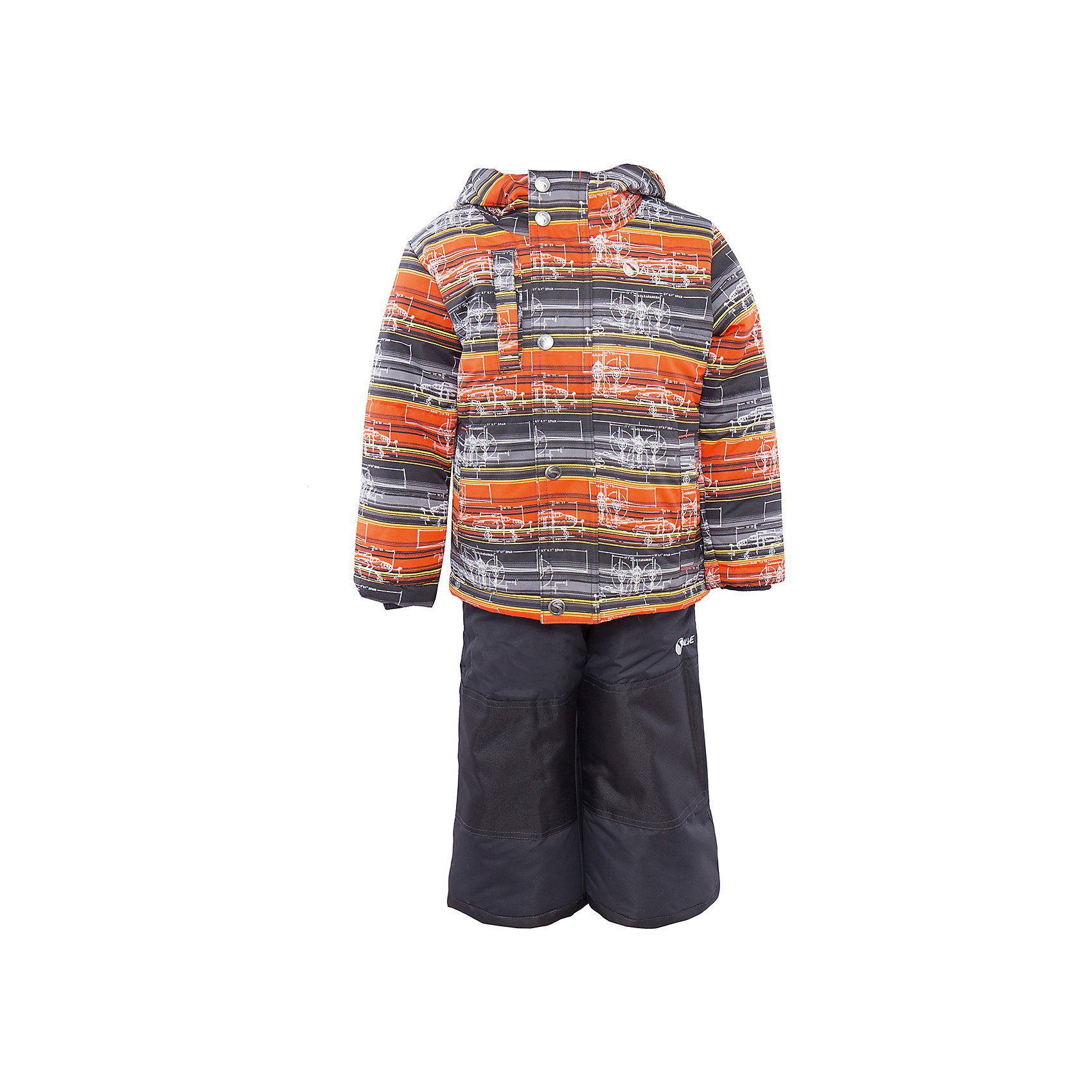 Комплект: куртка и полукомбинезон для мальчика SalveВерхняя одежда<br>Характеристики:<br><br>• Сезон: зима<br>• Степень утепления: высокая (куртка – 330 гр/м.кв.; полукомбинезон – 200 гр/м.кв.)<br>• Температурный режим*: от 0 до -30 градусов<br>• Пол: для мальчика<br>• Цвет: черный, оранжевый, серый<br>• Материал: полиэстер 100%<br>• Комплектация: куртка, полукомбинезон<br>• Наличие снегозащитной юбки<br>• Тип застежки: молния, кнопки<br>• Манжеты на куртке: эластичные, трикотажные<br>• Капюшон: не отстегивается<br>• Регулируемые лямки у полукомбинезона<br>• Карманы: 2 боковых  и 1 на груди у куртки  <br>• Уход: допускается стирка без чистящих и отбеливающих средств<br><br>Бренд Salve разработан и произведён канадской компанией Gusti International специально для российского рынка.<br><br>Комплект: куртка и полукомбинезон для мальчика Salve предназначен для прогулок в самое холодное время года. Изделие обеспечено высокой степенью утепления. Верхняя часть  комплекта выполнена из полиэстера, который обладает ветрозащитными и влагонепропускаемыми свойствами. Подклад на куртке выполнен из флиса. Для обеспечения поддержания микроклимата имеются эластичные трикотажных манжеты на рукавах куртки и резинки на брюках. Изделие выполнено из прочной ткани, имеется усиление на коленях, по низу полукомбинезона и сзади. Крой комплекта выполнен с учетом повышенной подвижности ребенка во время зимних прогулок: расширенные брючины не сковывают движений. <br>Комплект: куртка и полукомбинезон для мальчика Salve выполнен в ярком дизайне: полосатая оранжевая куртка с графическими элементами и полукомбинезон в классическом черном цвете.<br><br>Комплект: куртку и полукомбинезон для мальчика Salve можно купить в нашем интернет-магазине.<br><br>Ширина мм: 356<br>Глубина мм: 10<br>Высота мм: 245<br>Вес г: 519<br>Цвет: желтый<br>Возраст от месяцев: 18<br>Возраст до месяцев: 24<br>Пол: Мужской<br>Возраст: Детский<br>Размер: 92,128,98,104,110,116,122<br>SKU: 5044696