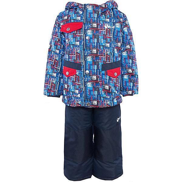 Комплект: куртка и полукомбинезон для мальчика SalveВерхняя одежда<br>Характеристики:<br><br>• Сезон: зима<br>• Степень утепления: высокая (куртка – 330 гр/м.кв.; полукомбинезон – 200 гр/м.кв.)<br>• Температурный режим*: от 0 до -30 градусов<br>• Пол: для мальчика<br>• Цвет: синий, красный<br>• Материал: полиэстер 100%<br>• Комплектация: куртка, полукомбинезон<br>• Наличие снегозащитной юбки<br>• Тип застежки: молния, кнопки<br>• Манжеты на куртке: эластичные, трикотажные<br>• Капюшон: не отстегивается<br>• Регулируемые лямки у полукомбинезона<br>• Карманы: 2 боковых и 1 на груди у куртки <br>• Уход: допускается стирка без чистящих и отбеливающих средств<br><br>Бренд Salve разработан и произведён канадской компанией Gusti International специально для российского рынка.<br><br>Комплект: куртка и полукомбинезон для мальчика Salve предназначен для прогулок в самое холодное время года. Изделие обеспечено высокой степенью утепления. Верхняя часть комплекта выполнена из полиэстера, который обладает ветрозащитными и влагонепропускаемыми свойствами. Подклад на куртке выполнен из флиса. Для обеспечения поддержания микроклимата имеются эластичные трикотажных манжеты на рукавах куртки и резинки на брюках. Изделие выполнено из прочной ткани, имеется усиление на коленях, по низу полукомбинезона и сзади. Крой комплекта выполнен с учетом повышенной подвижности ребенка во время зимних прогулок: расширенные брючины не сковывают движений. <br>Комплект: куртка и полукомбинезон для мальчика Salve выполнен в ярком дизайне: сине-красная куртка с графическими элементами и полукомбинезон в классическом темном цвете.<br><br>Комплект: куртку и полукомбинезон для мальчика Salve можно купить в нашем интернет-магазине.<br><br>Ширина мм: 356<br>Глубина мм: 10<br>Высота мм: 245<br>Вес г: 519<br>Цвет: синий<br>Возраст от месяцев: 18<br>Возраст до месяцев: 24<br>Пол: Мужской<br>Возраст: Детский<br>Размер: 92,128,122,116,110,104,98<br>SKU: 5044711