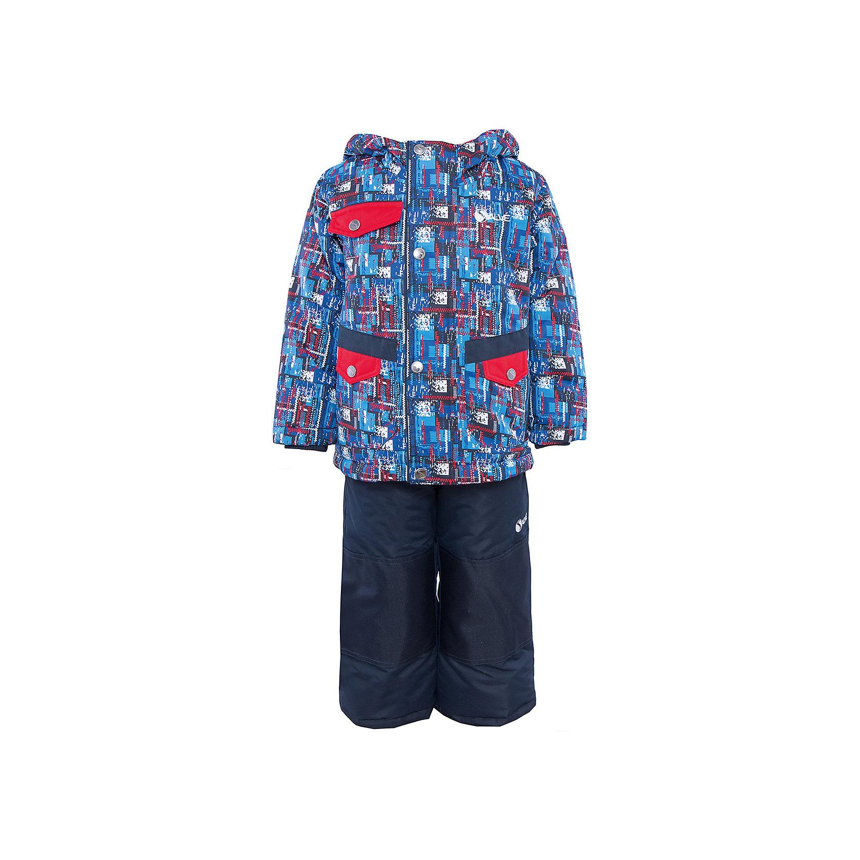 Комплект: куртка и полукомбинезон для мальчика SalveВерхняя одежда<br>Характеристики:<br><br>• Сезон: зима<br>• Степень утепления: высокая (куртка – 330 гр/м.кв.; полукомбинезон – 200 гр/м.кв.)<br>• Температурный режим*: от 0 до -30 градусов<br>• Пол: для мальчика<br>• Цвет: синий, красный<br>• Материал: полиэстер 100%<br>• Комплектация: куртка, полукомбинезон<br>• Наличие снегозащитной юбки<br>• Тип застежки: молния, кнопки<br>• Манжеты на куртке: эластичные, трикотажные<br>• Капюшон: не отстегивается<br>• Регулируемые лямки у полукомбинезона<br>• Карманы: 2 боковых и 1 на груди у куртки <br>• Уход: допускается стирка без чистящих и отбеливающих средств<br><br>Бренд Salve разработан и произведён канадской компанией Gusti International специально для российского рынка.<br><br>Комплект: куртка и полукомбинезон для мальчика Salve предназначен для прогулок в самое холодное время года. Изделие обеспечено высокой степенью утепления. Верхняя часть комплекта выполнена из полиэстера, который обладает ветрозащитными и влагонепропускаемыми свойствами. Подклад на куртке выполнен из флиса. Для обеспечения поддержания микроклимата имеются эластичные трикотажных манжеты на рукавах куртки и резинки на брюках. Изделие выполнено из прочной ткани, имеется усиление на коленях, по низу полукомбинезона и сзади. Крой комплекта выполнен с учетом повышенной подвижности ребенка во время зимних прогулок: расширенные брючины не сковывают движений. <br>Комплект: куртка и полукомбинезон для мальчика Salve выполнен в ярком дизайне: сине-красная куртка с графическими элементами и полукомбинезон в классическом темном цвете.<br><br>Комплект: куртку и полукомбинезон для мальчика Salve можно купить в нашем интернет-магазине.<br><br>Ширина мм: 356<br>Глубина мм: 10<br>Высота мм: 245<br>Вес г: 519<br>Цвет: синий<br>Возраст от месяцев: 18<br>Возраст до месяцев: 24<br>Пол: Мужской<br>Возраст: Детский<br>Размер: 92,128,98,104,110,116,122<br>SKU: 5044711