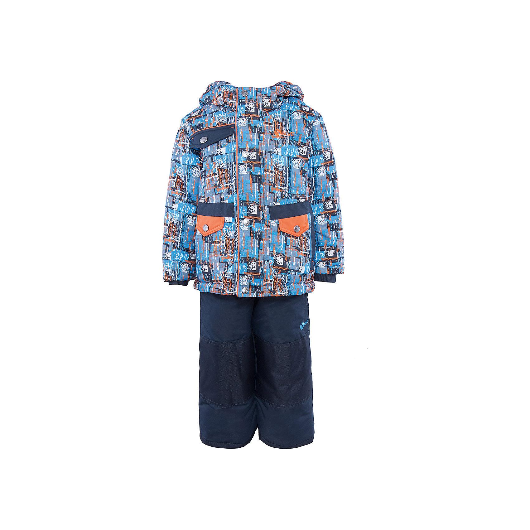 Комплект: куртка и полукомбинезон для мальчика SalveХарактеристики:<br><br>• Сезон: зима<br>• Степень утепления: высокая (куртка – 330 гр/м.кв.; полукомбинезон – 200 гр/м.кв.)<br>• Температурный режим*: от 0 до -30 градусов<br>• Пол: для мальчика<br>• Цвет: голубой, оранжевый, синий<br>• Материал: полиэстер 100%<br>• Комплектация: куртка, полукомбинезон<br>• Наличие снегозащитной юбки<br>• Тип застежки: молния, кнопки<br>• Манжеты на куртке: эластичные, трикотажные<br>• Капюшон: не отстегивается<br>• Регулируемые лямки у полукомбинезона<br>• Карманы: 2 боковых и 1 на груди у куртки <br>• Уход: допускается стирка без чистящих и отбеливающих средств<br><br>Бренд Salve разработан и произведён канадской компанией Gusti International специально для российского рынка.<br><br>Комплект: куртка и полукомбинезон для мальчика Salve предназначен для прогулок в самое холодное время года. Изделие обеспечено высокой степенью утепления. Верхняя часть комплекта выполнена из полиэстера, который обладает ветрозащитными и влагонепропускаемыми свойствами. Подклад на куртке выполнен из флиса. Для обеспечения поддержания микроклимата имеются эластичные трикотажных манжеты на рукавах куртки и резинки на брюках. Изделие выполнено из прочной ткани, имеется усиление на коленях, по низу полукомбинезона и сзади. Крой комплекта выполнен с учетом повышенной подвижности ребенка во время зимних прогулок: расширенные брючины не сковывают движений. <br>Комплект: куртка и полукомбинезон для мальчика Salve выполнен в ярком дизайне: куртка с оранжевыми и голубыми графическими элементами и полукомбинезон в классическом темном цвете.<br><br>Комплект: куртку и полукомбинезон для мальчика Salve можно купить в нашем интернет-магазине.<br><br>Ширина мм: 356<br>Глубина мм: 10<br>Высота мм: 245<br>Вес г: 519<br>Цвет: синий<br>Возраст от месяцев: 24<br>Возраст до месяцев: 36<br>Пол: Мужской<br>Возраст: Детский<br>Размер: 98,110,104<br>SKU: 5044719