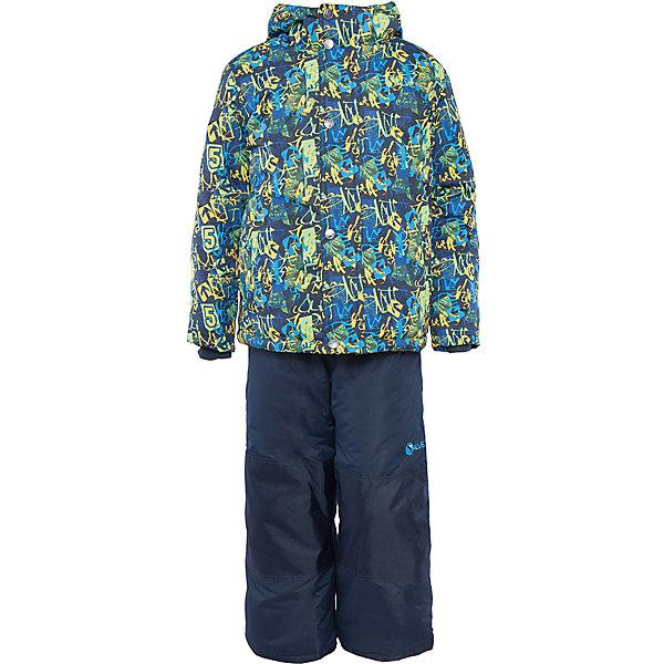 Комплект: куртка и полукомбинезон для мальчика Salve by GustiВерхняя одежда<br>Характеристики:<br><br>• Сезон: зима<br>• Степень утепления: высокая (куртка – 330 гр/м.кв.; полукомбинезон – 200 гр/м.кв.)<br>• Температурный режим*: от 0 до -30 градусов<br>• Пол: для мальчика<br>• Цвет: зеленый, желтый, синий<br>• Материал: полиэстер 100%<br>• Комплектация: куртка, полукомбинезон<br>• Наличие снегозащитной юбки<br>• Тип застежки: молния, кнопки<br>• Манжеты на куртке: эластичные, трикотажные<br>• Капюшон: не отстегивается<br>• Регулируемые лямки у полукомбинезона<br>• Карманы: боковые<br>• Уход: допускается стирка без чистящих и отбеливающих средств<br><br>Бренд Salve by Gusti разработан и произведён канадской компанией Gusti International специально для российского рынка.<br><br>Комплект: куртка и полукомбинезон для мальчика Salve by Gusti предназначен для прогулок в самое холодное время года. Изделие обеспечено высокой степенью утепления. Верхняя часть комплекта выполнена из полиэстера, который обладает ветрозащитными и влагонепропускаемыми свойствами. Подклад на куртке выполнен из флиса. Для обеспечения поддержания микроклимата имеются эластичные трикотажных манжеты на рукавах куртки и резинки на брюках. Изделие выполнено из прочной ткани, имеется усиление на коленях, по низу полукомбинезона и сзади. Крой комплекта выполнен с учетом повышенной подвижности ребенка во время зимних прогулок: расширенные брючины не сковывают движений. <br>Комплект: куртка и полукомбинезон для мальчика Salve by Gusti выполнен в ярком дизайне: куртка с разноцветными графическими элементами и полукомбинезон в классическом темном цвете.<br><br>Комплект: куртку и полукомбинезон для мальчика Salve by Gusti можно купить в нашем интернет-магазине.<br>Ширина мм: 356; Глубина мм: 10; Высота мм: 245; Вес г: 519; Цвет: синий; Возраст от месяцев: 96; Возраст до месяцев: 108; Пол: Мужской; Возраст: Детский; Размер: 128,122,116; SKU: 5044723;