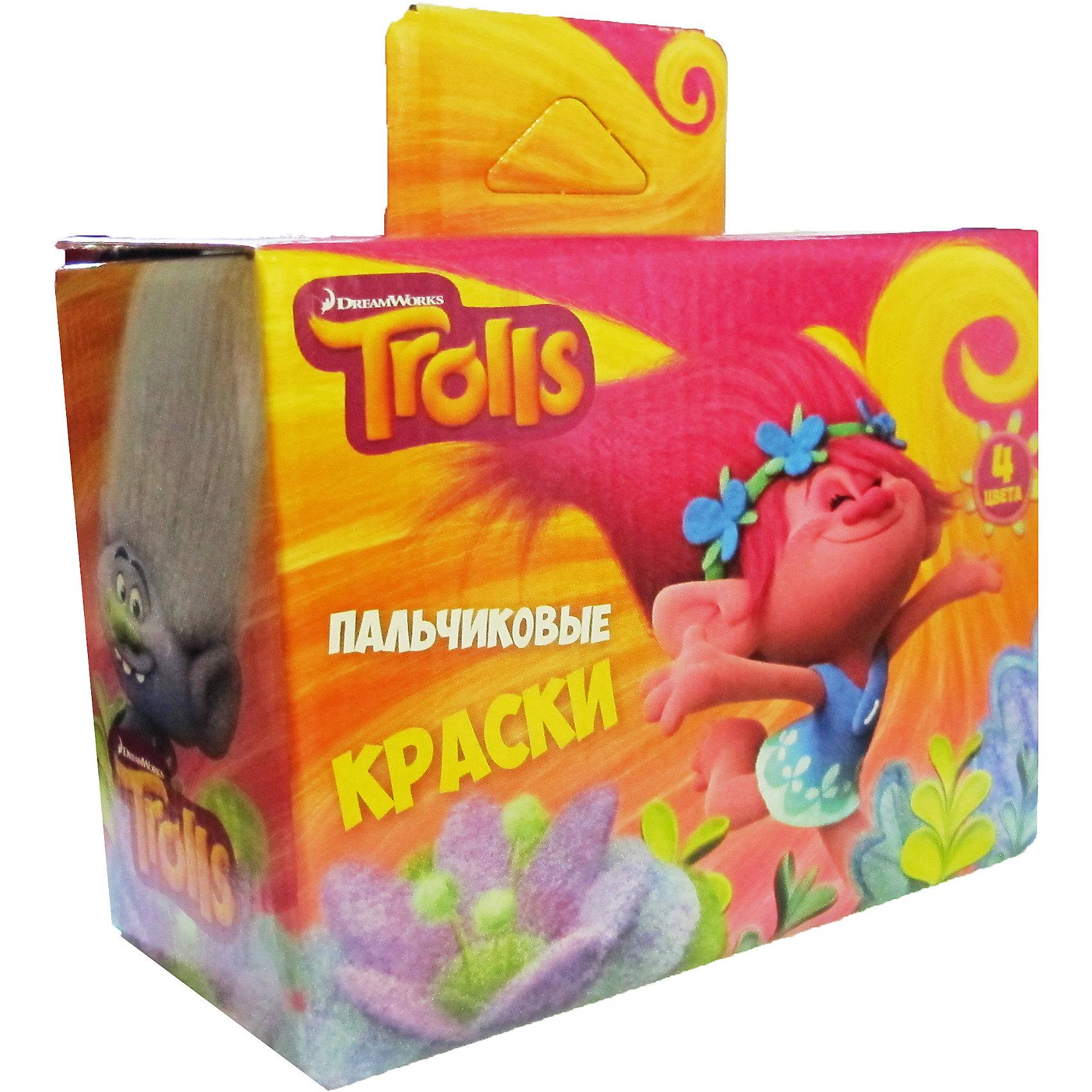 Набор пальчиковых красок Тролли, 4 цвета * 40 мл.Тролли<br>Набор пальчиковых красок Тролли, 4 цвета*40 мл., Centrum (Центрум)<br><br>Характеристики<br>• яркие цвета<br>• безопасны для ребенка<br>• в комплекте: краска 4 цвета (красный, желтый, зеленый, синий) по 40 мл<br>• размер упаковки: 7х14,5х14,5 см<br>• материал: полимер, краситель пластик<br><br>Рисование пальчиковыми красками подходит и малышам, и более старшим детям. Юный художник сможет рисовать кисточкой, руками или пальчиками. Краски полностью безопасны для ребенка, хорошо наносятся и стираются с любой поверхности. А забавная Розочка вдохновит вашего малыша на создание новых красочных рисунков!<br><br>Набор пальчиковых красок Тролли, 4 цвета*40 мл., Centrum (Центрум) вы можете купить в нашем интернет-магазине.<br><br>Ширина мм: 70<br>Глубина мм: 145<br>Высота мм: 145<br>Вес г: 200<br>Возраст от месяцев: 36<br>Возраст до месяцев: 144<br>Пол: Унисекс<br>Возраст: Детский<br>SKU: 5044924