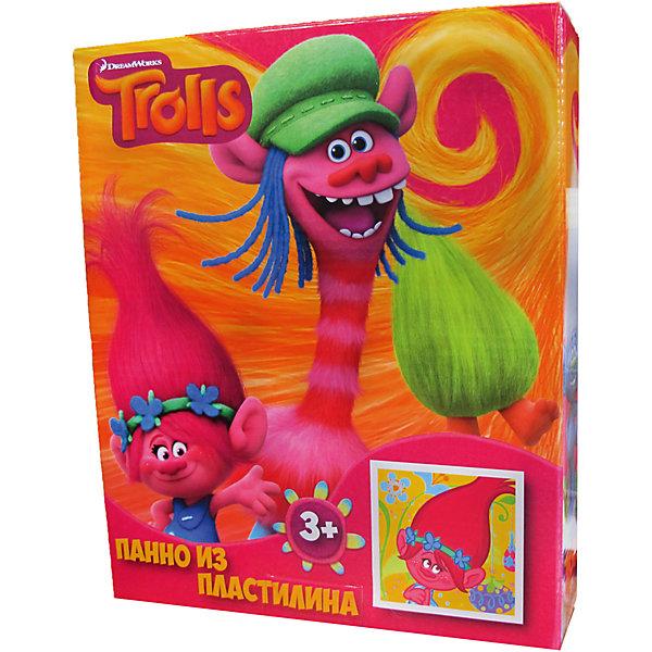 Панно из пластилина ТроллиТролли<br>Панно из пластилина Тролли, Centrum (Центрум)<br><br>Характеристики:<br><br>• яркая картинка из пластилина<br>• привлекательный дизайн с любимыми героями<br>• в комплекте: пластилин (10 цветов), стек, картинка<br>• размер: 5х22,5х18,5 см<br>• вес: 300 грамм <br><br>Пожалуй, каждый ребенок любит поделки из пластилина. Набор Тролли откроет ребенку новые возможности для творчества. В комплект входит не только пластилин, но и картинка, которую можно украсить так, как подскажет фантазия. Делайте картинку тонкой или объемной - всё зависит только от ваших пожеланий. В набор входит стек, который поможет отрезать необходимое количество пластилина. Набор с изображением любимых героев - прекрасный вариант для полезного времяпровождения!<br><br>Панно из пластилина Тролли, Centrum (Центрум) вы можете купить в нашем интернет-магазине.<br><br>Ширина мм: 5<br>Глубина мм: 185<br>Высота мм: 225<br>Вес г: 50<br>Возраст от месяцев: 36<br>Возраст до месяцев: 144<br>Пол: Унисекс<br>Возраст: Детский<br>SKU: 5044926