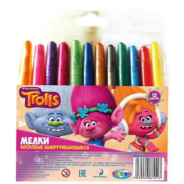 Мелки восковые выкручивающиеся Тролли, 12 цветовМасляные и восковые мелки<br>Мелки восковые выкручивающиеся Тролли, 12 цветов, Centrum (Центрум)<br><br>Характеристики:<br><br>• яркие цвета<br>• безопасны для ребенка<br>• привлекательный дизайн с любимыми героями<br>• в комплекте: мелки 12 цветов<br>• материал: воск, красители, пластик<br>• размер: 14,5х13,5х1 см<br><br>Восковые мелки Тролли отлично подойдут для создания первых шедевров ребенка. Они изготовлены из воска, безопасного для детей. Мелки выкручиваются, что позволяет защитит их от возможных поломок. В набор входят 12 ярких цветов. С их помощью ребенок сможет создать самую прекрасную картину на радость близким!<br><br>Мелки восковые выкручивающиеся Тролли, 12 цветов, Centrum (Центрум) вы можете купить в нашем интернет-магазине.<br><br>Ширина мм: 10<br>Глубина мм: 155<br>Высота мм: 135<br>Вес г: 102<br>Возраст от месяцев: 36<br>Возраст до месяцев: 144<br>Пол: Унисекс<br>Возраст: Детский<br>SKU: 5044932