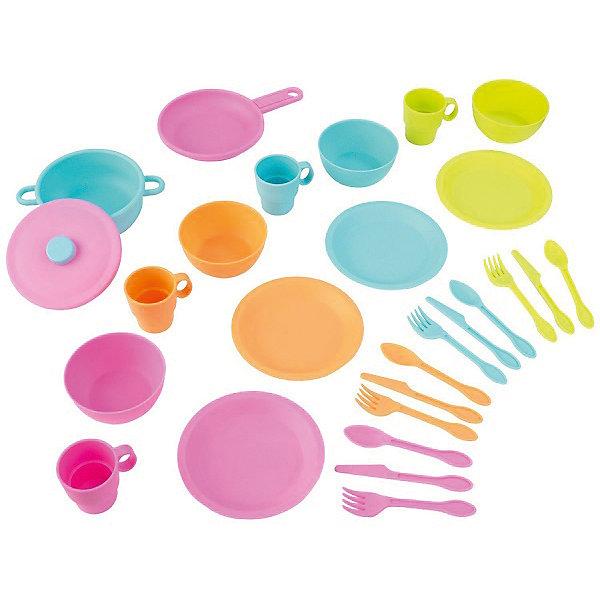 Игровой набор посуды Делюкс, KidKraftДетские кухни<br>Игровой набор посуды Делюкс, KidKraft (КидКрафт)<br><br>Характеристики:<br><br>-Материал: пластик.<br>-Цвет: разноцветный.<br>-Диаметр тарелки: 17см.<br>-Размер упаковки: 27х24х10 см.<br>-Вес: 1кг.<br><br>В комплекте 27 элементов: <br>- 4 ножа;<br>- 4 вилки;<br>- 4 ложки;<br>- 4 мелкие тарелки;<br>- 4 глубокие тарелки;<br>- 4 кружечки;<br>- кастрюля с крышечкой;<br>- сковорода.<br><br>Игровой набор посуды Делюкс, KidKraft (КидКрафт)- это игрушка от американского производителя KidKraft. С таким набором яркой, красочной посуды кухня вашей девочки заиграет новыми красками. <br>Сюжетно- ролевые игры с набором посуды развивают у ребенка навыки самообслуживания, а также творческую фантазию.<br><br>Игровой набор посуды Делюкс, KidKraft (КидКрафт) можно купить в нашем интернет - магазине<br><br>Ширина мм: 270<br>Глубина мм: 240<br>Высота мм: 100<br>Вес г: 1000<br>Возраст от месяцев: 36<br>Возраст до месяцев: 120<br>Пол: Женский<br>Возраст: Детский<br>SKU: 5044993