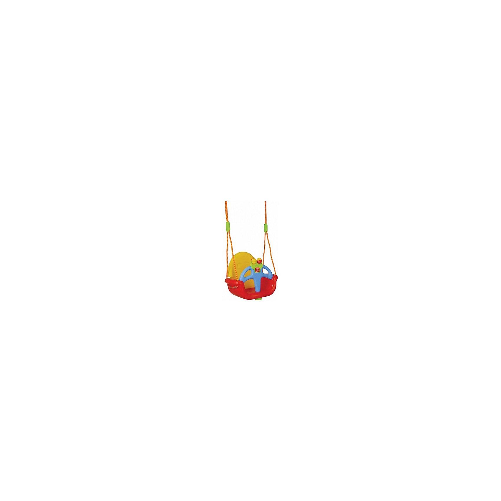 Качели подвесные DO-RE-MI 3 в 1, PilsanКачели и качалки<br>Качели подвесные DO-RE-MI 3 в 1, Pilsan (Пилсан).<br><br>Характеристики:<br><br>• Материал: пластик.<br>• Задняя спинка качели (съемная);<br>• Переднее ограждение безопасности (съемное);<br>• Протестированная на прочность веревка для крепления качели;<br>• Крепление - 2 карабина;<br>• Погремушка.<br>• Размер упаковки 48?31?44 см.<br>• Вес:2.6кг.<br><br>Качели подвесные DO-RE-MI 3 в 1, Pilsan (Пилсан) – веселое развлечение для Вашего крохи! <br>Эта игрушка три в одном:- ее можно использовать со спинкой и ограждением; без ограждения; а также без спинки и без ограждения по мере взросления ребенка. Поскольку качели способны трансформироваться и при этом максимальная нагрузка до 100 кг, то они прослужат много лет.<br><br>Качели подвесные DO-RE-MI 3 в 1, Pilsan (Пилсан), можно купить в нашем интернет – магазине.<br><br>Ширина мм: 480<br>Глубина мм: 440<br>Высота мм: 310<br>Вес г: 2600<br>Возраст от месяцев: 12<br>Возраст до месяцев: 120<br>Пол: Унисекс<br>Возраст: Детский<br>SKU: 5045002