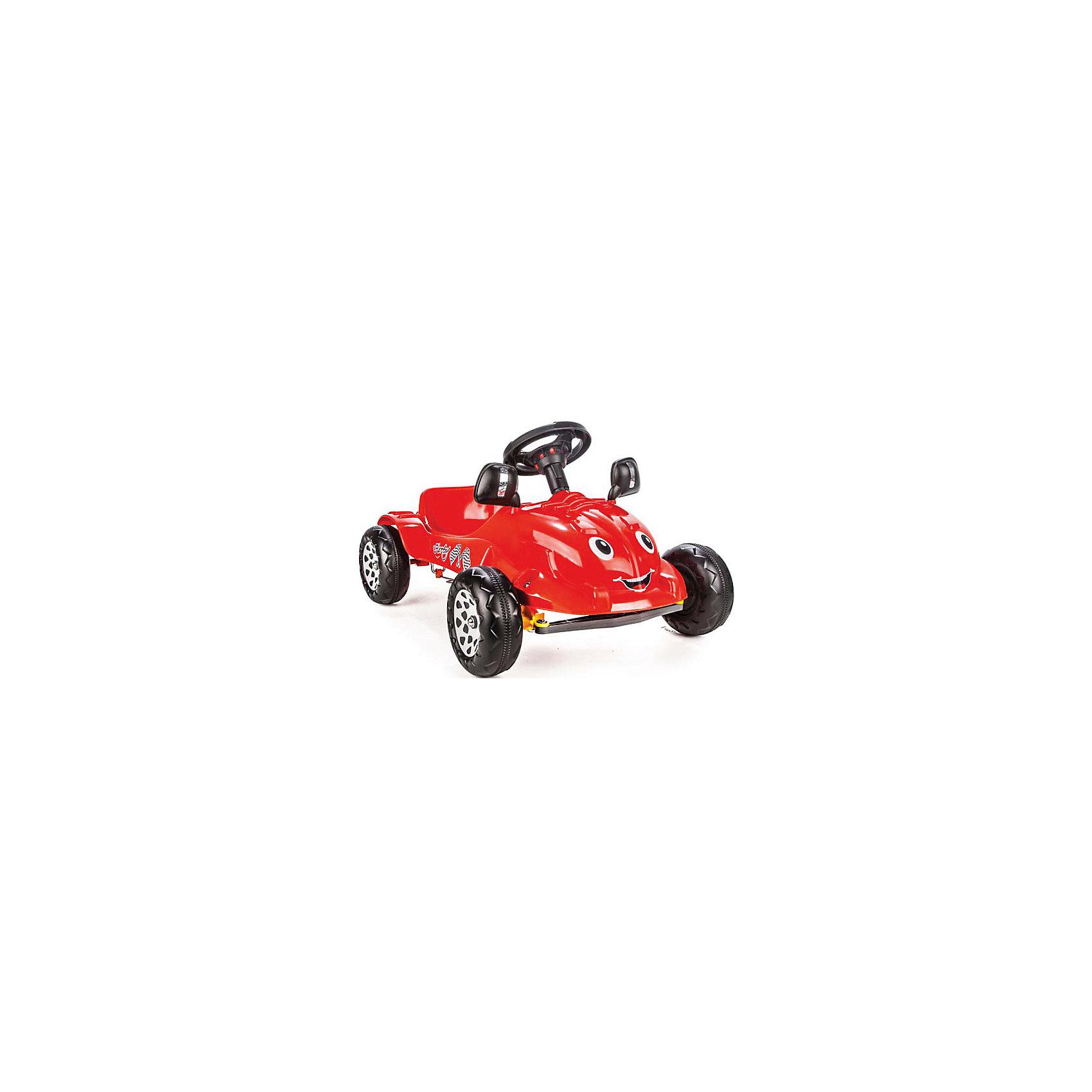 Педальная машина Herby, PilsanМашинки-каталки<br>Педальная машинка Herby Pilsan (Пилсан)<br><br>Характеристики:<br><br>-Вес – 4.08 кг; <br>-Материал : высококачественный пластик;<br>-Механический гудок;<br>-Ширина: 53 см;<br>-Длина: 73 см;<br>-Высота: 42 см;<br>-Максимальная нагрузка: 35 кг.<br><br>Педальная машинка Herby Pilsan (Пилсан) с приветливой улыбкой и большими добрыми глазами обрадует Вашего малыша. Педальный привод машинки дает ребенку необходимую физическую нагрузку, развивает координацию движений, укрепляет мышцы ног. В процессе игры развивается общая моторика, умение управлять своим телом. <br>Педальная машина Herby Pilsan (Пилсан) не зависит от батарей и других источников питания, что дает большую свободу в использовании. Благодаря низкой посадке, машина более устойчива. <br>Машина Herby Pilsan (Пилсан) очень проста и легка в эксплуатации, поэтому, малыш сможет кататься на ней самостоятельно. Ваш ребенок почувствует себя настоящим водителем. Эта симпатичная и надежная машинка идеально подходит для прогулок по городу или во дворе, а также и для игры в помещении. <br><br>Педальную машину Herby Pilsan (Пилсан) можно купить в нашем интернет - магазине.<br><br>Ширина мм: 800<br>Глубина мм: 550<br>Высота мм: 440<br>Вес г: 4000<br>Возраст от месяцев: 36<br>Возраст до месяцев: 120<br>Пол: Унисекс<br>Возраст: Детский<br>SKU: 5045003