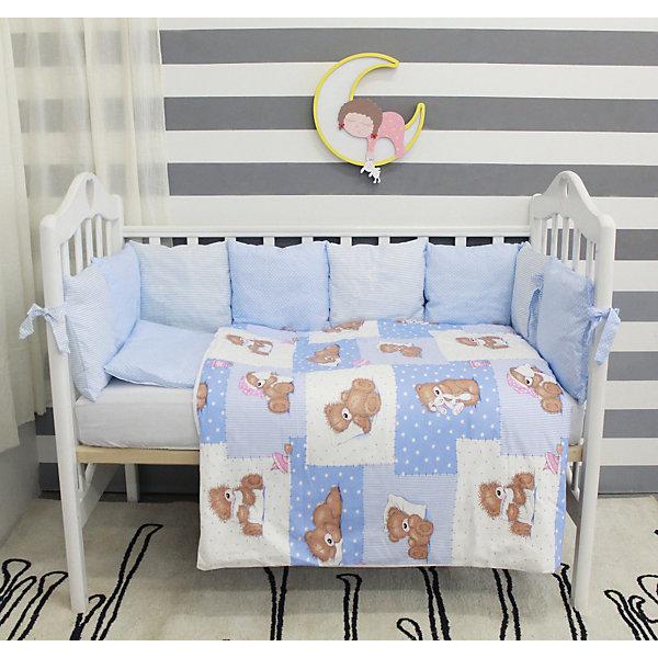 Постельное белье Тедди 3 пред., byTwinz, голубойПостельное белье в кроватку новорождённого<br>Комплект постельного белья byTwinz состоит из 3-х предметов: простынь, пододеяльник и наволочка. Детское постельное белье украшено принтом «Тедди». <br><br>Пододеяльник застегивается на молнию, которая находится с боковой стороны (продольный край изделия). <br>Простынь на резинке надежно фиксируется, не сминается и не сползает. <br><br>Постельное белье предназначено для детских кроваток размером 120х60 см и 125х65 см. <br><br>Дополнительная информация:<br><br>Размеры: <br><br>- простынь на резинке: 125х65 см; <br>- пододеяльник на молнии: 105х145 см;<br>- наволочка: 36х46 см. <br><br>Материал: 100% хлопок<br><br>Постельное белье Тедди 3 пред., byTwinz, голубой можно купить в нашем интернет-магазине.<br><br>Ширина мм: 420<br>Глубина мм: 260<br>Высота мм: 50<br>Вес г: 655<br>Возраст от месяцев: 0<br>Возраст до месяцев: 36<br>Пол: Мужской<br>Возраст: Детский<br>SKU: 5045053