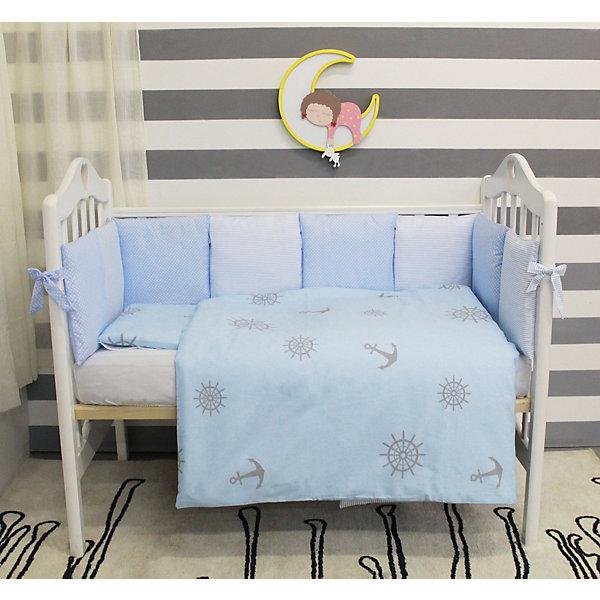 Комплект в кроватку 6 предметов By Twinz, БризПостельное белье в кроватку новорождённого<br>Комплект постельного белья byTwinz состоит из 6-ти предметов: бортик из подушек, подушка, одеяло, наволочка, пододеяльник и простынь. Постельное белье выполнено из гипоаллергенных материалов, наполнитель подушек и одеяла экологически чистый. <br><br>Мягкий бортик состоит из 12-ти подушек, которые размещаются по периметру кроватки и крепятся к бортику с помощью тканевых завязок. Наволочки подушек съемные. <br>Пододеяльник застегивается на молнию, которая находится с боковой стороны изделия (продольный край). <br>Простынь на резинке надежно фиксируется, не сминается и не сползает. <br><br>Комплект в кроватку «Бриз» предназначен для детских кроваток размером 120х60 см и 125х65 см. <br><br>Дополнительная информация:<br><br>Размеры: <br><br>- бортики-подушки, 12 шт.: 30х30 см каждая;<br>- наволочки на молнии на бортики-подушки, 12 шт.: 33х33 см каждая;<br>- детская подушка: 35х45 см;<br>- детское одеяло: 100х140 см;<br>- пододеяльник на молнии: 105х145 см;<br>- наволочка: 36х46 см; <br>- простынь на резинке: 125х65 см.<br><br>Материал: 100% хлопок<br>Наполнитель (подушки, одеяло): холлофайбер<br><br>Постельное белье Бриз 6 пред., byTwinz можно купить в нашем интернет-магазине.<br>Ширина мм: 580; Глубина мм: 580; Высота мм: 180; Вес г: 3000; Возраст от месяцев: 0; Возраст до месяцев: 36; Пол: Мужской; Возраст: Детский; SKU: 5045079;