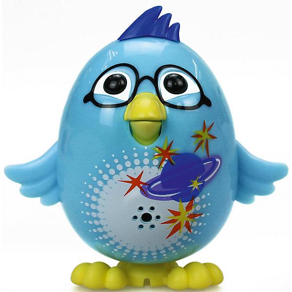 Цыпленок с кольцом, голубой, DigiBirdsИнтерактивные животные<br>Характеристики товара:<br><br>- цвет: голубой;<br>- материал: пластик;<br>- особенности: издает звуки, регируя на действия ребенка;<br>- интерактивная игрушка;<br>- размер упаковки: 64х15х10 см;<br>- вес: 900 г.<br><br>Такая симпатичная интерактивная игрушка не оставит ребенка равнодушным! Какой малыш откажется от поющего птенца?! Игрушка очень качественно выполнена, поэтому она станет отличным подарком ребенку. Он издает более 55 звуков! Такой птенец отлично тренирует у ребенка навык заботы о других и ответственность. С ним можно придумать множество сюжетов, разыгрывая которые, ребенок развивает мелкую моторику, воображение и творческое мышление.<br>Изделие произведено из высококачественного материала, безопасного для детей.<br><br>Цыпленка с кольцом от DigiBirds можно купить в нашем интернет-магазине.<br><br>Ширина мм: 152<br>Глубина мм: 64<br>Высота мм: 102<br>Вес г: 992<br>Возраст от месяцев: 36<br>Возраст до месяцев: 2147483647<br>Пол: Унисекс<br>Возраст: Детский<br>SKU: 5047558