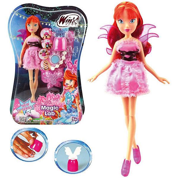 Кукла Блум, Магическая лаборатория, Winx ClubКуклы<br>Характеристики товара:<br><br>- цвет: разноцветный;<br>- материал: пластик, текстиль;<br>- особенности: руки и ноги сгибаются;<br>- размер упаковки: 25х36х6 см;<br>- размер куклы: 28 см.<br><br>Такие красивые куклы не оставят ребенка равнодушным! Какая девочка откажется поиграть с куклой Winx ?! Игрушка отлично детализирована, очень качественно выполнена, поэтому она станет отличным подарком ребенку. В наборе идут одежда и аксессуары, которыми можно украсить куклу!<br>Изделие произведено из высококачественного материала, безопасного для детей.<br><br>Куклу Блум, Магическая лаборатория от бренда Winx Club можно купить в нашем интернет-магазине.<br><br>Ширина мм: 60<br>Глубина мм: 260<br>Высота мм: 350<br>Вес г: 350<br>Возраст от месяцев: 36<br>Возраст до месяцев: 2147483647<br>Пол: Женский<br>Возраст: Детский<br>SKU: 5047571