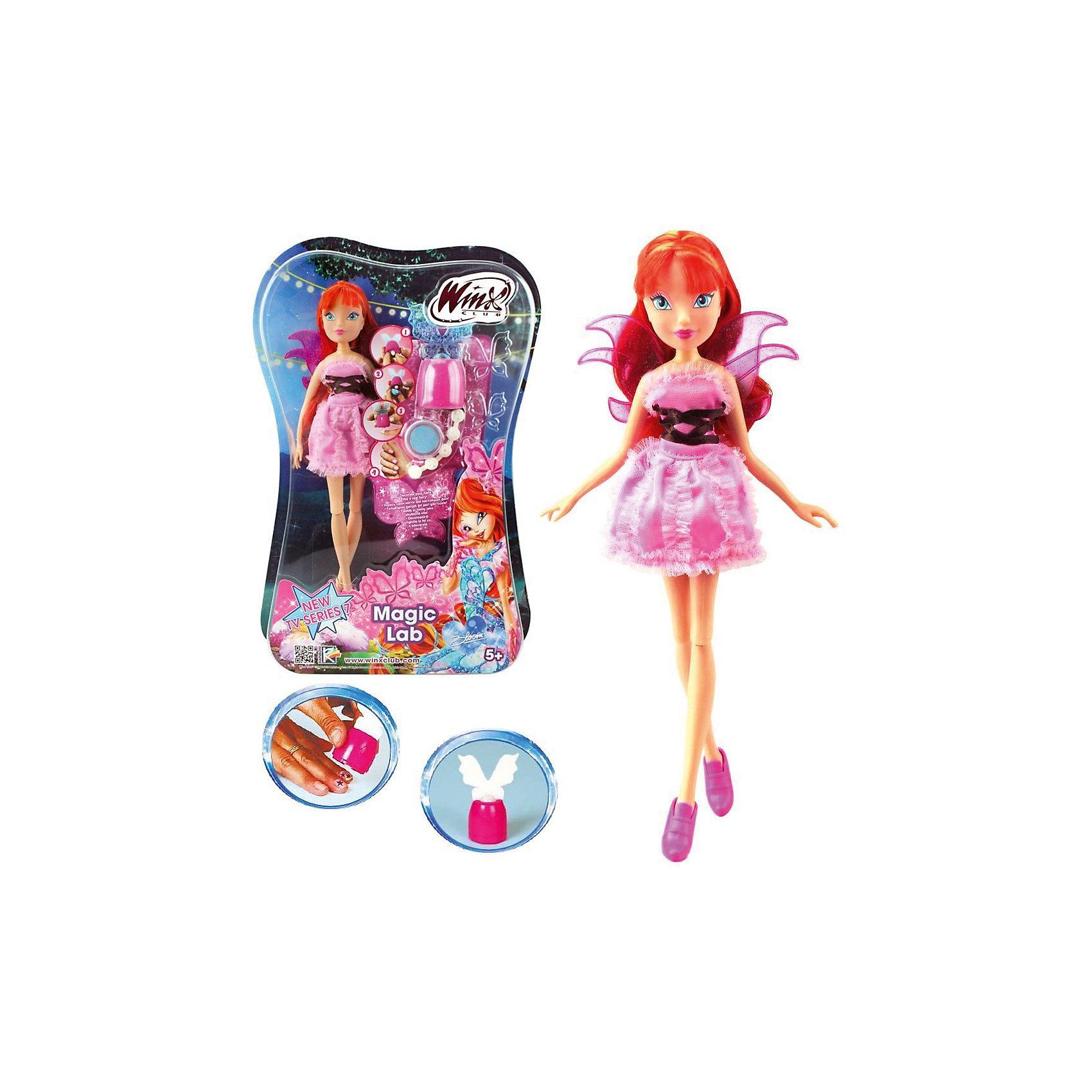 Кукла Блум, Магическая лаборатория, Winx ClubБренды кукол<br>Характеристики товара:<br><br>- цвет: разноцветный;<br>- материал: пластик, текстиль;<br>- особенности: руки и ноги сгибаются;<br>- размер упаковки: 25х36х6 см;<br>- размер куклы: 28 см.<br><br>Такие красивые куклы не оставят ребенка равнодушным! Какая девочка откажется поиграть с куклой Winx ?! Игрушка отлично детализирована, очень качественно выполнена, поэтому она станет отличным подарком ребенку. В наборе идут одежда и аксессуары, которыми можно украсить куклу!<br>Изделие произведено из высококачественного материала, безопасного для детей.<br><br>Куклу Блум, Магическая лаборатория от бренда Winx Club можно купить в нашем интернет-магазине.<br><br>Ширина мм: 60<br>Глубина мм: 260<br>Высота мм: 350<br>Вес г: 350<br>Возраст от месяцев: 36<br>Возраст до месяцев: 2147483647<br>Пол: Женский<br>Возраст: Детский<br>SKU: 5047571
