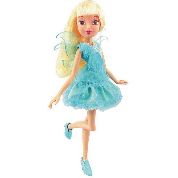 Кукла Стелла, Магическая лаборатория, Winx ClubКуклы<br>Характеристики товара:<br><br>- цвет: разноцветный;<br>- материал: пластик, текстиль;<br>- особенности: руки и ноги сгибаются;<br>- размер упаковки: 25х36х6 см;<br>- размер куклы: 28 см.<br><br>Такие красивые куклы не оставят ребенка равнодушным! Какая девочка откажется поиграть с куклой Winx ?! Игрушка отлично детализирована, очень качественно выполнена, поэтому она станет отличным подарком ребенку. В наборе идут одежда и аксессуары, которыми можно украсить куклу!<br>Изделие произведено из высококачественного материала, безопасного для детей.<br><br>Куклу Стелла, Магическая лаборатория от бренда Winx Club можно купить в нашем интернет-магазине.<br>Ширина мм: 60; Глубина мм: 260; Высота мм: 350; Вес г: 350; Возраст от месяцев: 36; Возраст до месяцев: 2147483647; Пол: Женский; Возраст: Детский; SKU: 5047575;