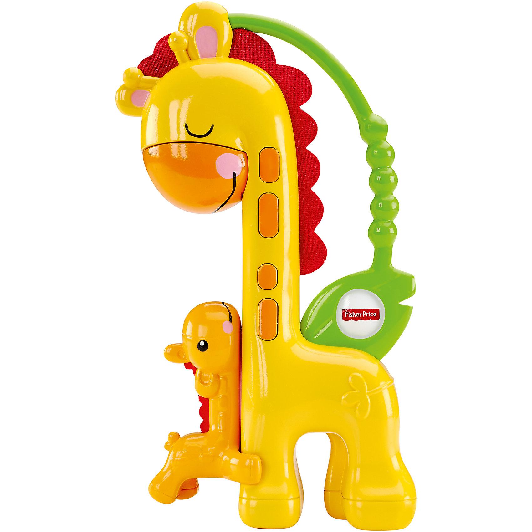 Прорезыватель Жираф, Fisher PriceЯркий и симпатичный прорезыватель  привлечет внимание Вашего малыша и поможет снять зуд при прорезывании молочных зубок. Игрушка выполнена в виде двух симпатичных жирафиков – мамы и её малыша и оснащена удобной ручкой, за которую удобно хвататься маленьким детским пальчикам. Если перевернуть игрушку вверх ногами, маленький жирафик заскользит вверх по шее большого жирафа, чтобы его «поцеловать».<br>Игрушка выполнена из безопасных, экологически чистых материалов, облегчающих неприятные ощущения в деснах малыша при прорезывании зубов. Произведена торговой маркой Mattel под известным брендом Fisher Price (Фишер Прайс), специализирующимся на разработке игрушек для самых маленьких.<br><br>Дополнительная информация:<br><br>- возраст – 0-12 месяцев <br>- пол: для мальчиков, для девочек<br>- бренд: Fisher-Price (Mattel)<br>- размер упаковки: 0.170 * 0.040* 0.140 см<br>- вес: 0.080 кг<br><br>Прорезыватель Жираф, торговой марки Fisher Price (Фишер Прайс) можно купить в нашем интернет-магазине.<br><br>Ширина мм: 40<br>Глубина мм: 140<br>Высота мм: 170<br>Вес г: 91<br>Возраст от месяцев: 3<br>Возраст до месяцев: 24<br>Пол: Унисекс<br>Возраст: Детский<br>SKU: 5047625