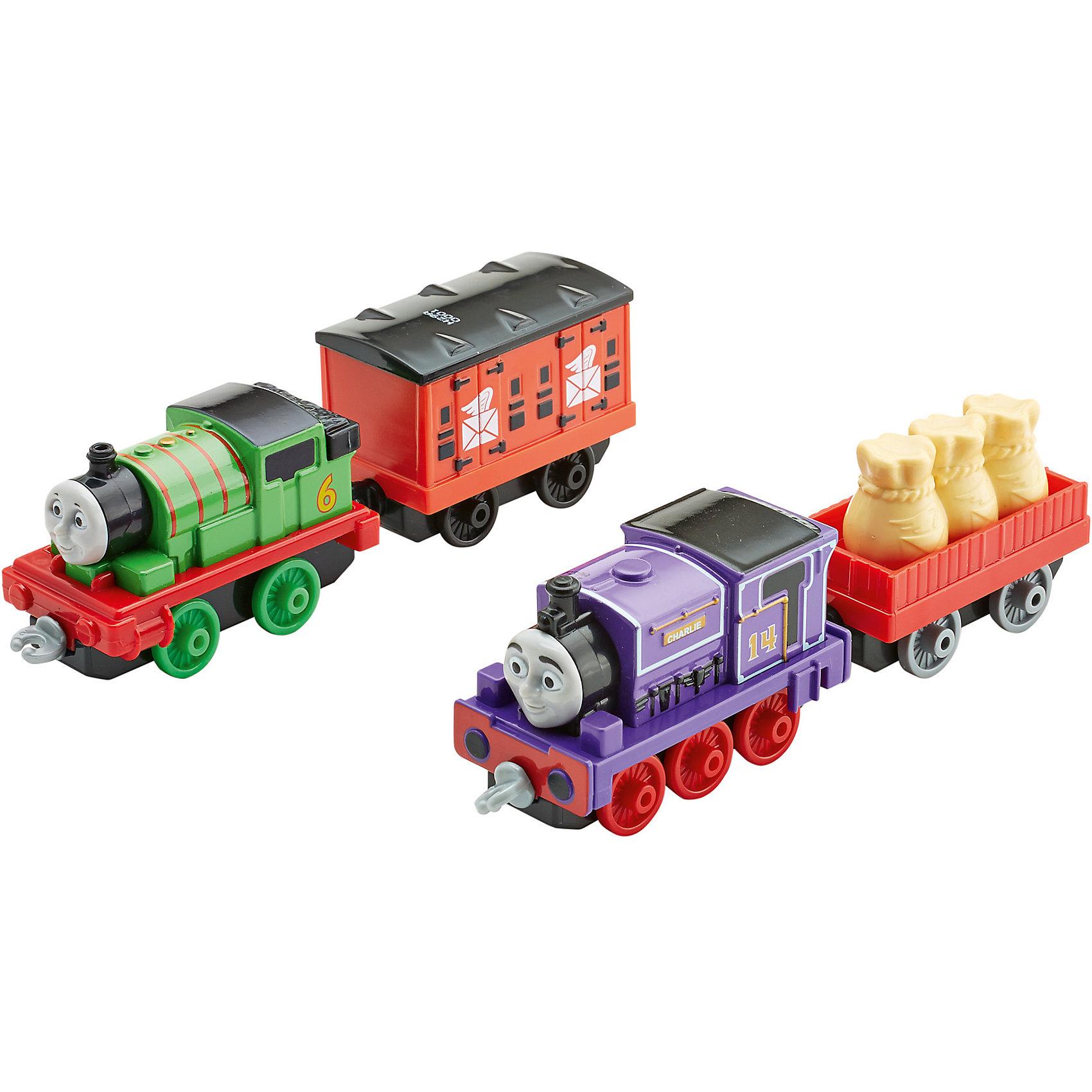Паровозик, Томас и его друзьяТомас и его друзья<br>Паровозики Томас и его друзья, из серии Collectible Railway - это два очаровательных паровозика, выполненных в виде героев любимого детского мультфильма Thomas &amp; Friends. Для более веселой игры к ним добавлена пара грузовых вагончиков, которые можно прикрепить к паровозам, что позволит ребенку придумать и разыграть еще больше увлекательных сюжетов. Корпуса фигурок выполнены из литого металла, что делает их долговечными и устойчивыми к поломкам. Паровозы и вагончики окрашены в яркие цвета и сразу привлекают внимание ребенка, даже если он еще не знаком с их мультипликационными прототипами. При производстве игрушек были использованы только нетоксичные материалы. При соблюдении рекомендаций, данных производителем, набор безопасен для детей.<br><br>Дополнительная информация:<br><br>- возраст: от 3 лет.<br>- материал: металл, пластик.<br>- размер упаковки: 25,5*13*3,5 см.<br>- вес: 181 г.<br>- в комплекте: 2 паровозика и 2 вагончика.<br>- страна обладатель бренда: США.<br><br>Паровозики, Томас и его друзья торговой марки   Fisher-Price (Фишер Прайс)   можно купить в нашем интернет-магазине.<br><br>Ширина мм: 35<br>Глубина мм: 130<br>Высота мм: 255<br>Вес г: 241<br>Возраст от месяцев: 36<br>Возраст до месяцев: 120<br>Пол: Мужской<br>Возраст: Детский<br>SKU: 5047633