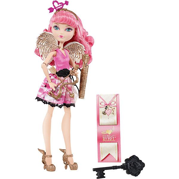 Кукла Си-Эй Кьюпид, Ever After HighКуклы<br>Кукла Ever After High Си Эй Кьюпид – милая и добрая дочь древнегреческого бога Эроса. Ее яркое летнее платье выполнено в розово-белых тонах. Топ отделан бежевой тканью-сеточкой, золотистые плечики напоминают крылышки. Пышная короткая юбка по низу украшена черной кружевной тесьмой. На ногах надеты черные колготки-сеточки. Дополняет наряд широкий черно-золотистый пояс, крылья и стильные туфли на высоких каблуках. Длинные розовые волосы куклы аккуратно убраны под золотистый ободок с розовым сердечком. В комплект входит: кукла, расческа в форме ключа, ободок, пояс, крылья, лук со стрелами, подставка, книжечка с историей персонажа. Руки и ноги у куклы шарнирные, что позволяет придать ей сотни различных поз.<br><br>Дополнительная информация:<br><br>- возраст: от 6 лет<br>- пол: для девочек<br>- комплект: кукла, аксессуары.<br>- материал: пластик, текстиль.<br>- руки и ноги с несколькими точками артикуляции (сгибаются локти, коленки, запястья)<br>- высота куклы: 27 см.<br>- в комплект входит: кукла в одежде и обуви, расческа в форме ключа, ободок, пояс, крылья, лук со стрелами, подставка, книжечка с историей персонажа<br>- страна обладатель бренда: США.<br>- бренд: Mattel<br><br>Купить куклу  Ever After High (Эвер Афтер Хай)  Си-Эй Кьюпид можно купить в нашем магазине.<br><br>Ширина мм: 65<br>Глубина мм: 205<br>Высота мм: 325<br>Вес г: 363<br>Возраст от месяцев: 72<br>Возраст до месяцев: 120<br>Пол: Женский<br>Возраст: Детский<br>SKU: 5047667