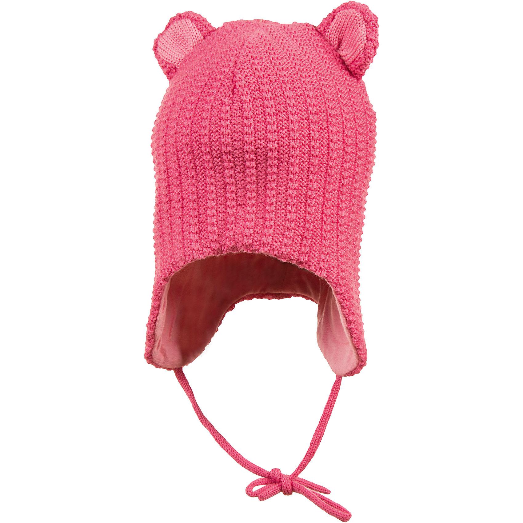 Шапка JanusШапочки<br>Шапка Janus<br>Теплая шапка, надежно защищающая головку и ушки малыша на прогулках, – обязательный элемент детской одежды в холодное время года. Плотная шерстяная шапочка из 100%-ной шерсти мериноса на подкладке из хлопкового трикотажа отвечает самым строгим требованиям заботливых родителей. Она гигроскопична, гипоаллергенна, обладает антибактериальным эффектом и прекрасно сохраняет тепло. <br><br>Благодаря завязкам шапочка плотно прилегает к головке ребенка, защищая ее от холодного ветра и мороза. А разнообразие цветовых вариантов позволит вам подобрать изделие на свой вкус. <br><br>Ребенку обязательно понравится его новая, легкая и теплая шерстяная шапочка с имитацией ушек.  Вам останется только завязать ее под подбородком малыша и отправиться вместе с ним на увлекательную зимнюю прогулку<br><br>Состав:<br>100% шерсть, подкладка 100% хлопок<br><br>Ширина мм: 89<br>Глубина мм: 117<br>Высота мм: 44<br>Вес г: 155<br>Цвет: розовый<br>Возраст от месяцев: 12<br>Возраст до месяцев: 24<br>Пол: Женский<br>Возраст: Детский<br>Размер: 47-49<br>SKU: 5048662