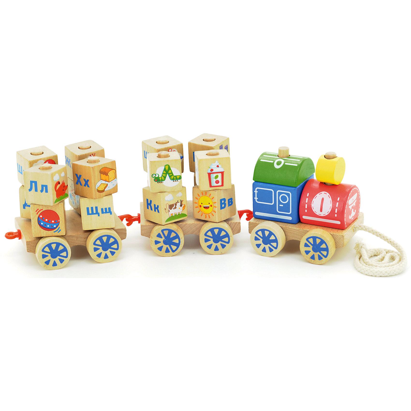 Паровозик Алфавит, МДИМДИ (Мир деревянных игрушек)<br>Характеристики товара:<br><br>- цвет: разноцветный;<br>- материал: дерево;<br>- особенности: помогает развитию важных навыков;<br>- комплектация: паровозик, вагоны, кубики;<br>- размер упаковки: 46х10х10 см;<br>- вес: 880 г.<br><br>Развивать навыки ребенка можно в любом возрасте! Эта обучающая игрушка поможет малышу в игровой форме научиться многому. Игрушка очень качественно выполнена, поэтому она станет отличным подарком ребенку. Она состоит из паровозика, вагонов и кубиков. Такое изделие отлично тренирует у ребенка разные навыки. Играя с ней, малыш осваивает алфавит и счет, развивает мелкую моторику, цветовосприятие, внимание, воображение и творческое мышление.<br>Изделие произведено из высококачественного материала, безопасного для детей.<br><br>Паровозик Алфавит от бренда Мир деревянных игрушек можно купить в нашем интернет-магазине.<br><br>Ширина мм: 46<br>Глубина мм: 10<br>Высота мм: 10<br>Вес г: 890<br>Возраст от месяцев: 36<br>Возраст до месяцев: 2147483647<br>Пол: Унисекс<br>Возраст: Детский<br>SKU: 5048949