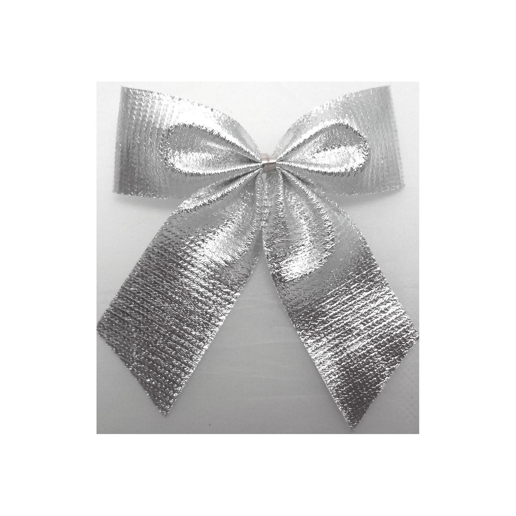 Набор Серебряный бант 6 штБанты металлизированные СЕРЕБРО 6 бантов в наборе  8см арт.16042 Бант выполнен из нейлона и предназначен для оформления подарочных коробок, пакетов. Кроме того, декоративный бант прекрасно для оформления праздничной елки и интерьера.<br><br>Ширина мм: 290<br>Глубина мм: 160<br>Высота мм: 10<br>Вес г: 250<br>Возраст от месяцев: 72<br>Возраст до месяцев: 480<br>Пол: Унисекс<br>Возраст: Детский<br>SKU: 5051616