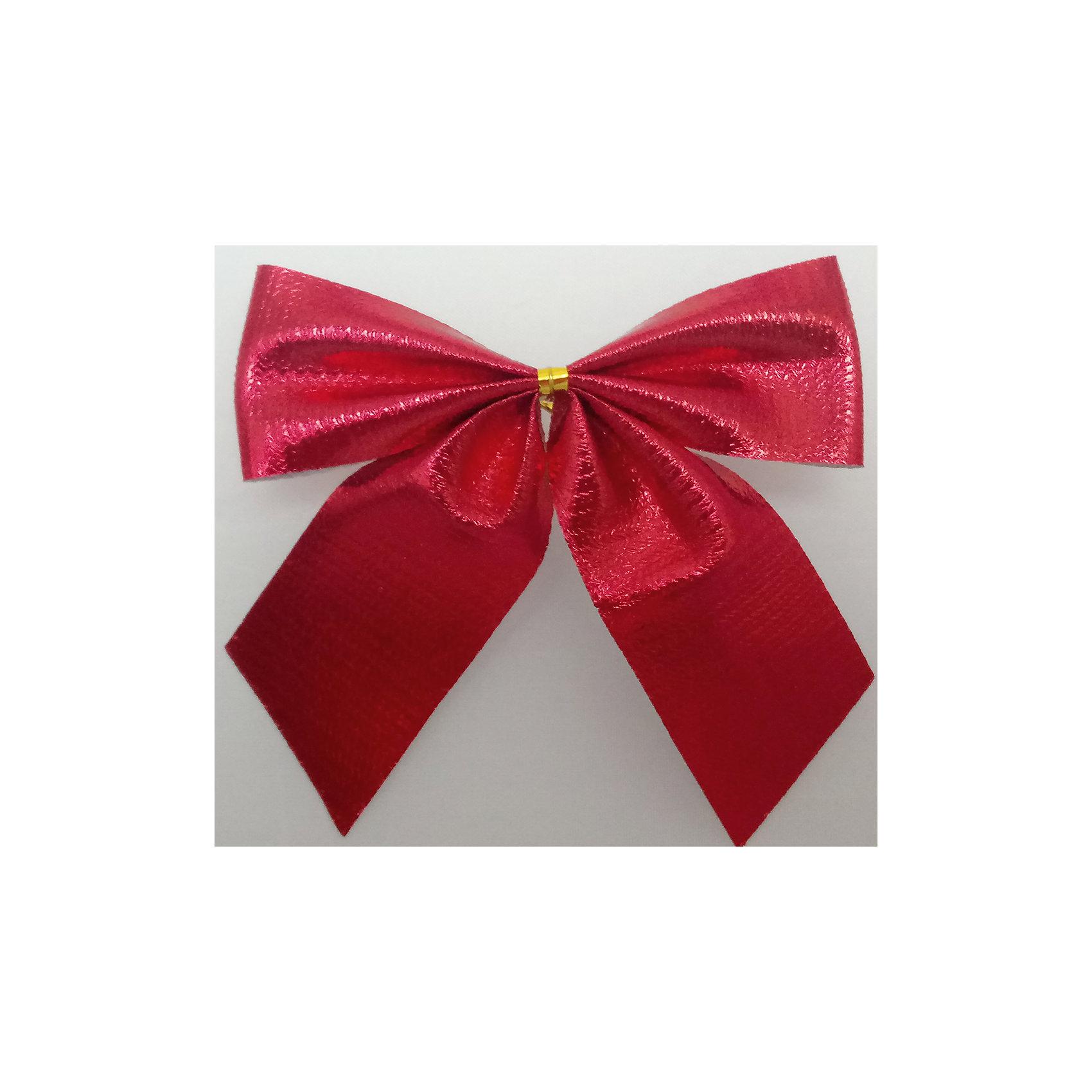 Набор красных метализированных бантов, 6 штХарактеристики товара:<br><br>• цвет: красный<br>• размер банта: 8 см<br>• размер упаковки: 29х16х1 см<br>• комплектация: 6 шт<br>• материал: нейлон<br>• металлизированные<br>• для украшения интерьера или подарков<br>• страна производства: Китай<br><br>Бант - это универсальное украшение, он добавит торжественности и духа праздника прическе, интерьеру, подарочной упаковке, ёлке! Это украшение будет отлично смотреться в окружении любой цветовой гаммы, оно качественно выполнено и нарядно смотрится. С помощью такого комплекта можно оригинально украсить квартиру к празднику и декорировать пакет или коробку с подарком.<br>Такие небольшие детали и создают праздник! От них во многом зависит хорошее новогоднее настроение. Изделие производится из качественных сертифицированных материалов, безопасных даже для самых маленьких.<br><br>Банты металлизированные красные (0,29Х0,16Х0,01м) можно купить в нашем интернет-магазине.<br><br>Ширина мм: 290<br>Глубина мм: 160<br>Высота мм: 10<br>Вес г: 200<br>Возраст от месяцев: 72<br>Возраст до месяцев: 480<br>Пол: Унисекс<br>Возраст: Детский<br>SKU: 5051617