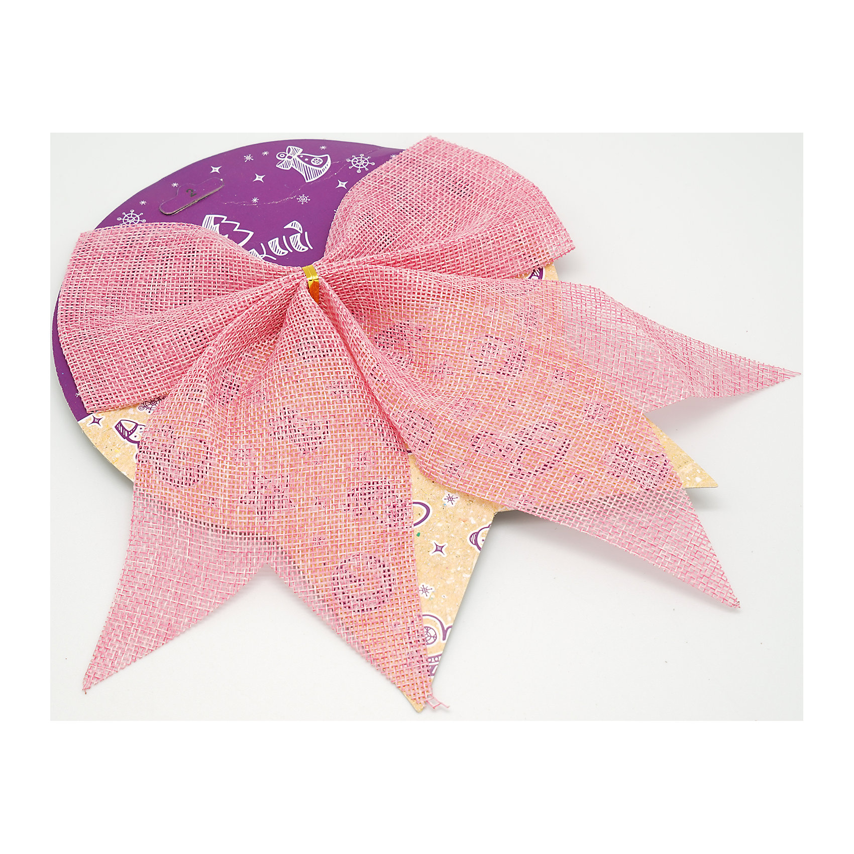 Розовый бант, 17 cvЁлочные игрушки<br>Характеристики товара:<br><br>• цвет: розовый<br>• размер банта: 17 см<br>• размер упаковки: 27х17х1 см<br>• комплектация: 1 шт<br>• материал: нейлон<br>• полупрозрачный<br>• для украшения интерьера или подарков<br>• страна производства: Китай<br><br>Бант - это универсальное украшение, он добавит торжественности и духа праздника прическе, интерьеру, подарочной упаковке, ёлке! Это украшение будет отлично смотреться в окружении любой цветовой гаммы, оно качественно выполнено и нарядно смотрится. С помощью такого банта можно оригинально украсить квартиру к празднику и декорировать пакет или коробку с подарком.<br>Такие небольшие детали и создают праздник! От них во многом зависит хорошее новогоднее настроение. Изделие производится из качественных сертифицированных материалов, безопасных даже для самых маленьких.<br><br>Бант из ткани розовый 1 штука (0,27Х0,17Х0,01 м) можно купить в нашем интернет-магазине.<br><br>Ширина мм: 290<br>Глубина мм: 170<br>Высота мм: 10<br>Вес г: 50<br>Возраст от месяцев: 72<br>Возраст до месяцев: 480<br>Пол: Унисекс<br>Возраст: Детский<br>SKU: 5051631