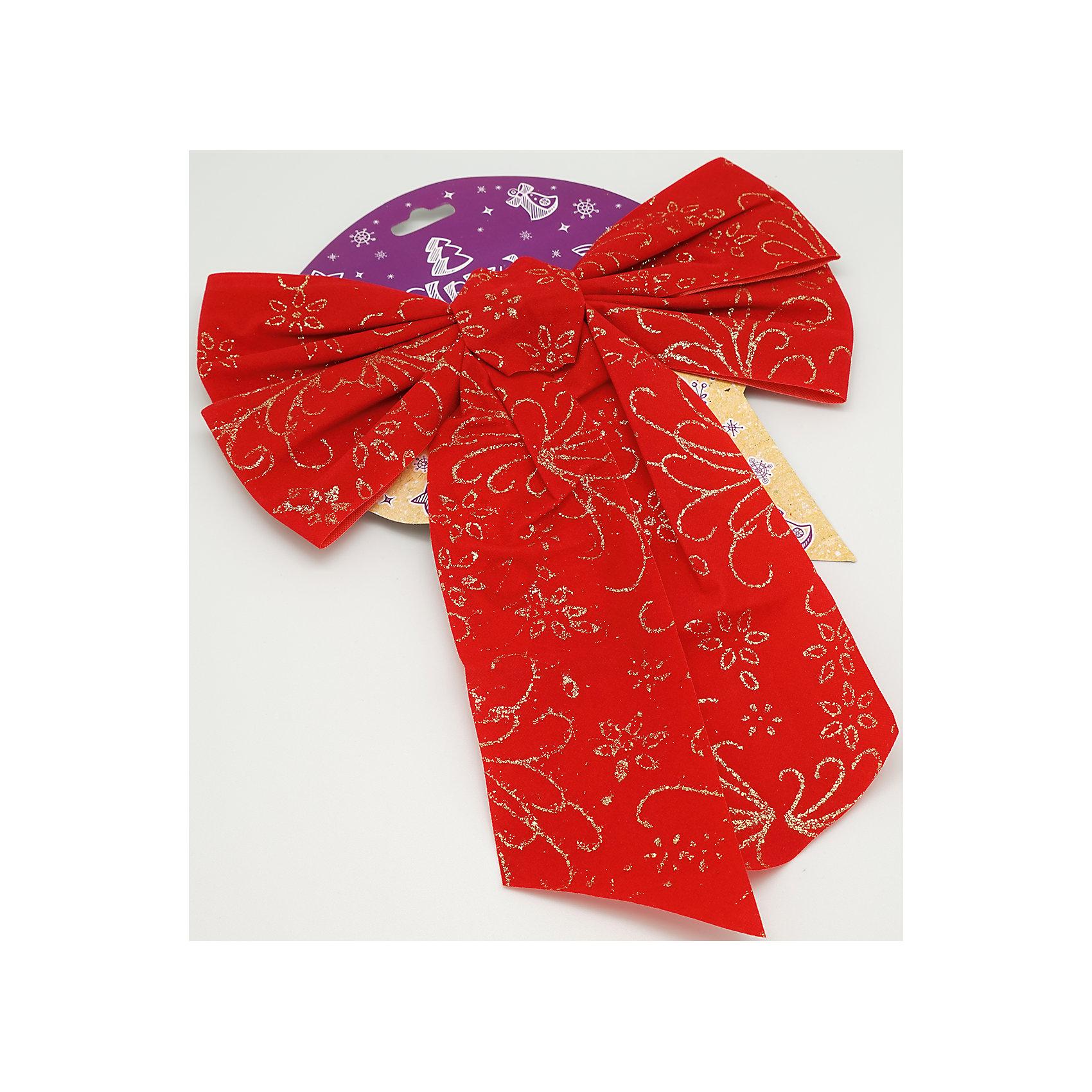 Красный бархатный бант 17 смХарактеристики товара:<br><br>• цвет: красный<br>• размер банта: 17 см<br>• размер упаковки: 27х17х1 см<br>• комплектация: 1 шт<br>• материал: нейлон<br>• фактура: под бархат<br>• для украшения интерьера или подарков<br>• страна производства: Китай<br><br>Бант - это универсальное украшение, он добавит торжественности и духа праздника прическе, интерьеру, подарочной упаковке, ёлке! Это украшение будет отлично смотреться в окружении любой цветовой гаммы, оно качественно выполнено и нарядно смотрится. С помощью такого банта можно оригинально украсить квартиру к празднику и декорировать пакет или коробку с подарком.<br>Такие небольшие детали и создают праздник! От них во многом зависит хорошее новогоднее настроение. Изделие производится из качественных сертифицированных материалов, безопасных даже для самых маленьких.<br><br>Бант бархат красный (0,27Х0,17Х0,01 м) можно купить в нашем интернет-магазине.<br><br>Ширина мм: 290<br>Глубина мм: 170<br>Высота мм: 10<br>Вес г: 50<br>Возраст от месяцев: 72<br>Возраст до месяцев: 480<br>Пол: Унисекс<br>Возраст: Детский<br>SKU: 5051632