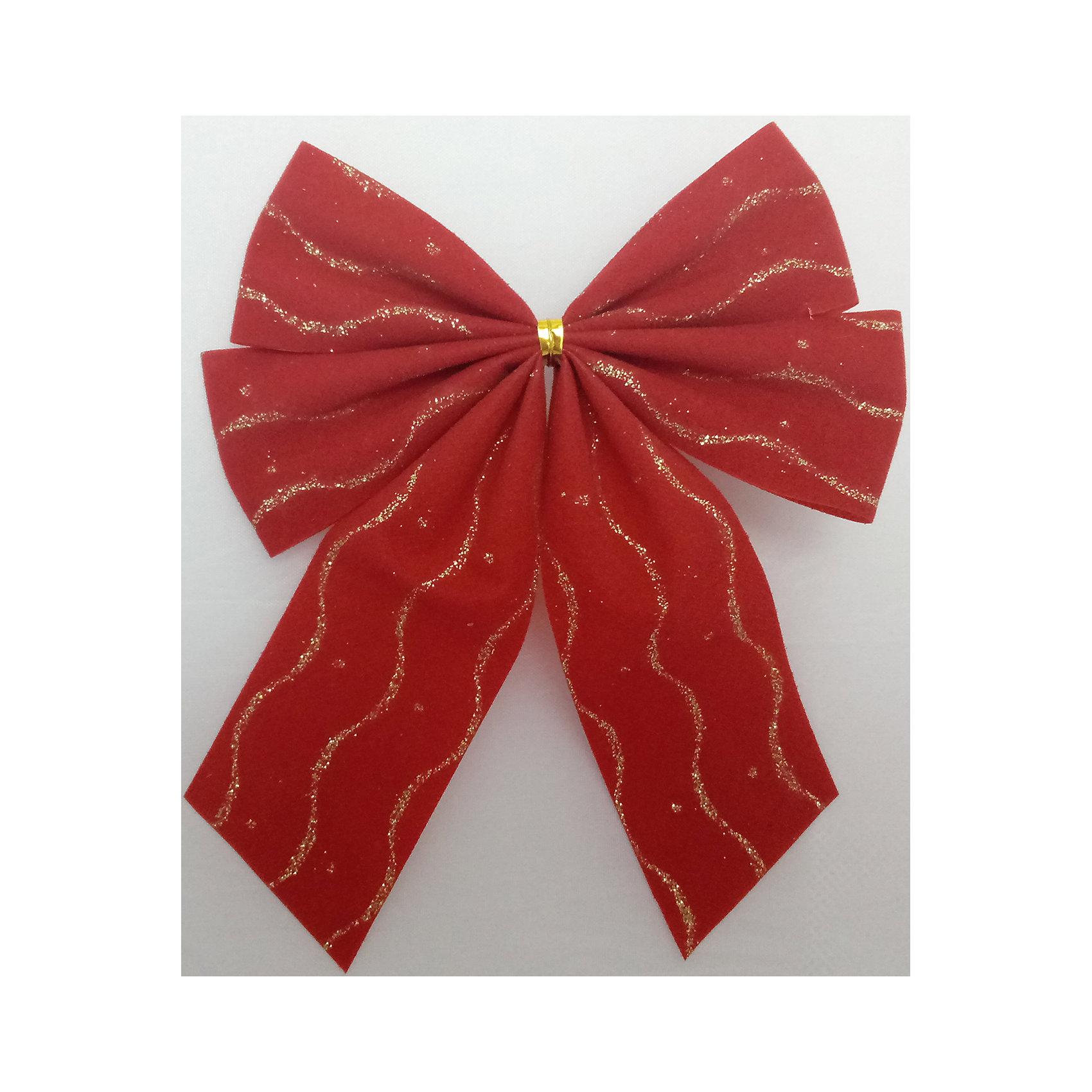 Набор Красный бант 4 штВсё для праздника<br>Характеристики товара:<br><br>• цвет: красный<br>• золотистые включения<br>• размер упаковки: 27х17х1 см<br>• комплектация: 4 шт<br>• материал: нейлон<br>• фактура: ткань<br>• для украшения интерьера или подарков<br>• страна производства: Китай<br><br>Бант - это универсальное украшение, он добавит торжественности и духа праздника прическе, интерьеру, подарочной упаковке, ёлке! Это украшение будет отлично смотреться в окружении любой цветовой гаммы, оно качественно выполнено и нарядно смотрится. С помощью такого комплекта можно оригинально украсить квартиру к празднику и декорировать пакет или коробку с подарком.<br>Такие небольшие детали и создают праздник! От них во многом зависит хорошее новогоднее настроение. Изделие производится из качественных сертифицированных материалов, безопасных даже для самых маленьких.<br><br>Бант из ткани красный 4 штуки (0,27Х0,17Х0,01 м) можно купить в нашем интернет-магазине.<br><br>Ширина мм: 290<br>Глубина мм: 170<br>Высота мм: 10<br>Вес г: 100<br>Возраст от месяцев: 72<br>Возраст до месяцев: 480<br>Пол: Унисекс<br>Возраст: Детский<br>SKU: 5051635