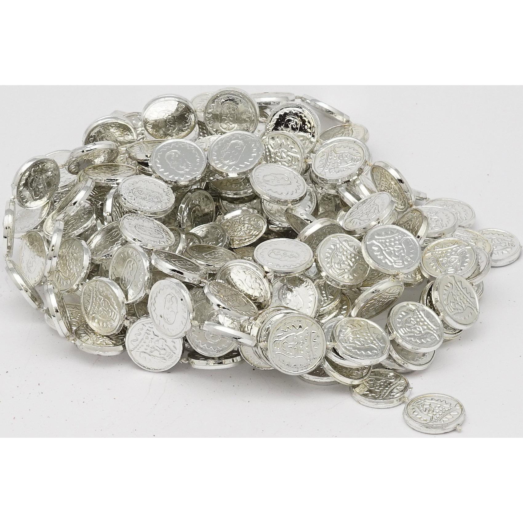 Яркий праздник Гирлянда монеты, 270 см (серебро) монеты в сургуте я продаю