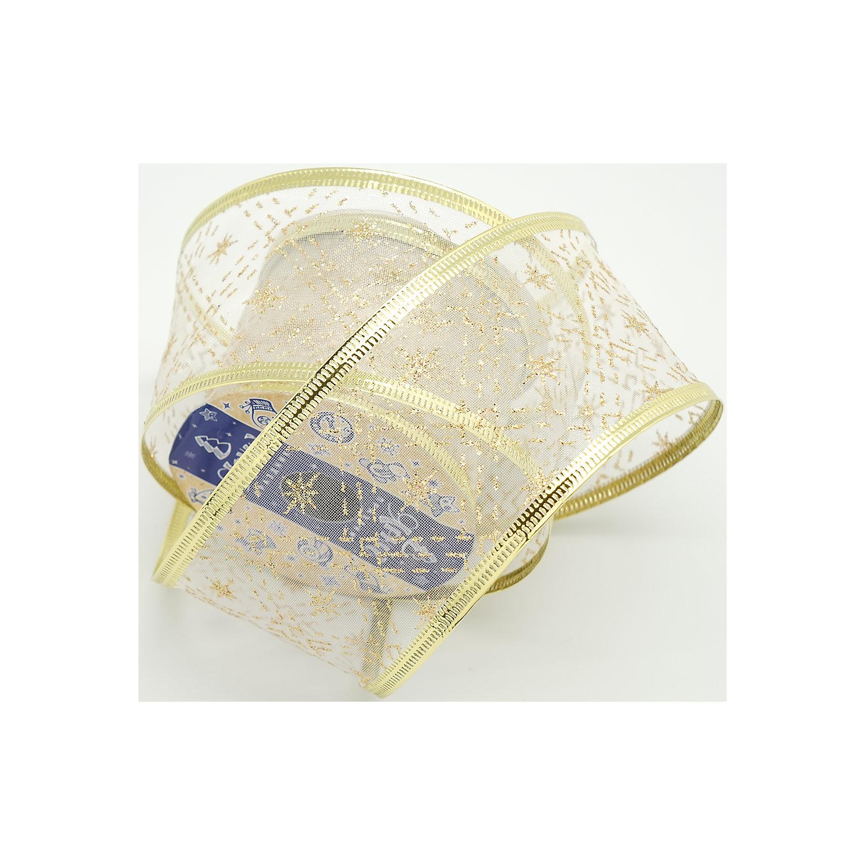 Декоративная лента, золотая кисея (0,08Х0,08Х0,06 м)лента 6 см декоративная категория 2 золотая кисея арт.16151Лента выполнена из нейлона и  предназначена для оформления цветочных букетов, подарочных коробок, пакетов. Кроме того, декоративная лента с успехом применяется для художественного оформления праздничной елки.<br><br>Ширина мм: 80<br>Глубина мм: 80<br>Высота мм: 60<br>Вес г: 0<br>Возраст от месяцев: 72<br>Возраст до месяцев: 480<br>Пол: Унисекс<br>Возраст: Детский<br>SKU: 5051657