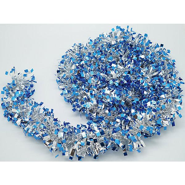 Новогодняя мишура, синий 9х200 арт.16502Новогодняя мишура и бусы<br>Мишура новогодняя синий 9х200 арт.16502 Мишура идеально подойдет для оформления Вашего новогоднего праздника.<br>Из Мишуры очень просто воплотить Ваши дизайнерские идеи в  жизнь, благодаря тонкой проволке внутри, мишура легко принимает ту форму, которую Вам необходимо. Удачи в Ваших Новогодних задумках!<br><br>Ширина мм: 2000<br>Глубина мм: 90<br>Высота мм: 90<br>Вес г: 50<br>Возраст от месяцев: 72<br>Возраст до месяцев: 480<br>Пол: Унисекс<br>Возраст: Детский<br>SKU: 5051667