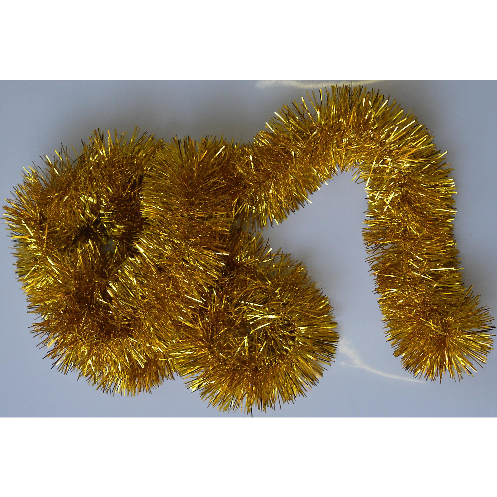Новогодняя мишура, золото 9х200 арт.16514Всё для праздника<br>Мишура новогодняя золото 9х200 арт.16514 Мишура идеально подойдет для оформления Вашего новогоднего праздника.<br>Из Мишуры очень просто воплотить Ваши дизайнерские идеи в  жизнь, благодаря тонкой проволке внутри, мишура легко принимает ту форму, которую Вам необходимо. Удачи в Ваших Новогодних задумках!<br><br>Ширина мм: 2000<br>Глубина мм: 90<br>Высота мм: 90<br>Вес г: 50<br>Возраст от месяцев: 72<br>Возраст до месяцев: 480<br>Пол: Унисекс<br>Возраст: Детский<br>SKU: 5051672