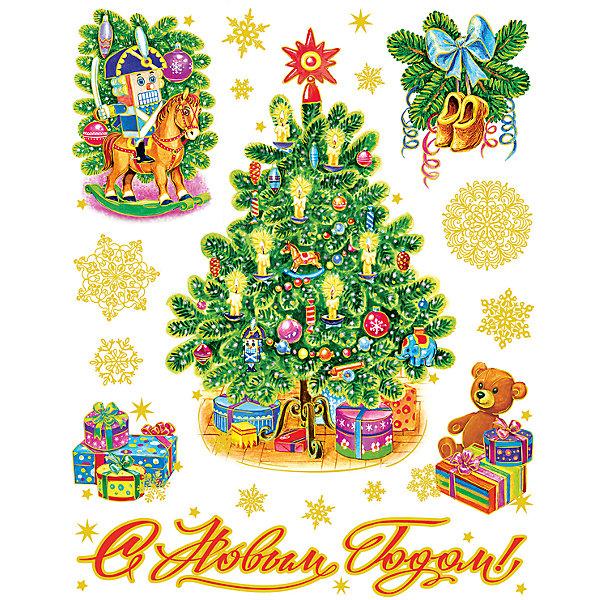 Новогодняя наклейка из ПВХ, 30х38см, Новогодние игрушкиНовогодние наклейки на окна<br>Характеристики товара:<br><br>• крепится посредством статического эффекта<br>• размер: 30х38 см<br>• комплектация: 1 лист<br>• материал: ПВХ<br>• для украшения интерьера <br>• страна производства: Китай<br><br>Украшать окна к Новому году всей семьей - традиция во многих домах. Новогодний антураж трудно представить без снежинок или наклеек на окнах! Эта красивая наклейка будет отлично смотреться в окружении любой цветовой гаммы, она качественно выполнена и нарядно смотрится благодаря глиттеру. Крепится на окна с помощью статического эффекта и не оставляет следов! С помощью такой наклейки можно оригинально декорировать квартиру к празднику.<br>Такие небольшие детали и создают праздник! От них во многом зависит хорошее новогоднее настроение. Изделие производится из качественных сертифицированных материалов, безопасных даже для самых маленьких.<br><br>Новогоднюю наклейку из ПВХ, 30х38см, Новогодние игрушки можно купить в нашем интернет-магазине.<br><br>Ширина мм: 420<br>Глубина мм: 300<br>Высота мм: 2<br>Вес г: 30<br>Возраст от месяцев: 72<br>Возраст до месяцев: 480<br>Пол: Унисекс<br>Возраст: Детский<br>SKU: 5051678