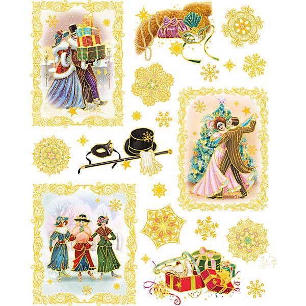 Новогодняя наклейка из ПВХ, 30х38см, Винтажный новый годНовогодние наклейки на окна<br>Характеристики товара:<br><br>• крепится посредством статического эффекта<br>• размер: 30х38 см<br>• комплектация: 1 лист<br>• материал: ПВХ<br>• для украшения интерьера <br>• страна производства: Китай<br><br>Украшать окна к Новому году всей семьей - традиция во многих домах. Новогодний антураж трудно представить без снежинок или наклеек на окнах! Эта красивая наклейка будет отлично смотреться в окружении любой цветовой гаммы, она качественно выполнена и нарядно смотрится благодаря глиттеру. Крепится на окна с помощью статического эффекта и не оставляет следов! С помощью такой наклейки можно оригинально декорировать квартиру к празднику.<br>Такие небольшие детали и создают праздник! От них во многом зависит хорошее новогоднее настроение. Изделие производится из качественных сертифицированных материалов, безопасных даже для самых маленьких.<br><br>Новогоднюю наклейку из ПВХ, 30х38см, Винтажный новый год можно купить в нашем интернет-магазине.<br><br>Ширина мм: 420<br>Глубина мм: 300<br>Высота мм: 2<br>Вес г: 30<br>Возраст от месяцев: 72<br>Возраст до месяцев: 480<br>Пол: Унисекс<br>Возраст: Детский<br>SKU: 5051679