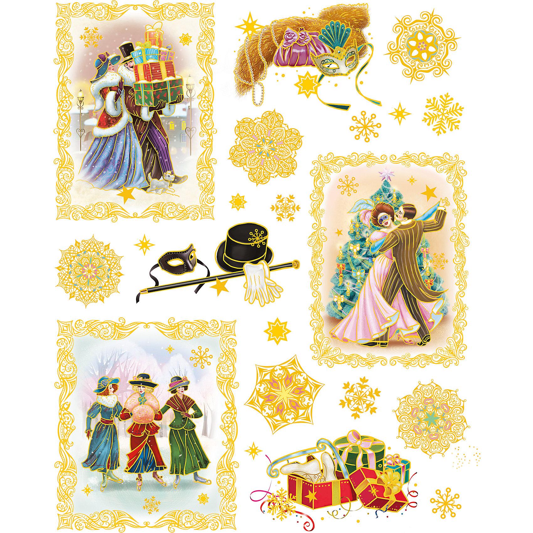 Новогодняя наклейка из ПВХ, 30х38см, Винтажный новый годХарактеристики товара:<br><br>• крепится посредством статического эффекта<br>• размер: 30х38 см<br>• комплектация: 1 лист<br>• материал: ПВХ<br>• для украшения интерьера <br>• страна производства: Китай<br><br>Украшать окна к Новому году всей семьей - традиция во многих домах. Новогодний антураж трудно представить без снежинок или наклеек на окнах! Эта красивая наклейка будет отлично смотреться в окружении любой цветовой гаммы, она качественно выполнена и нарядно смотрится благодаря глиттеру. Крепится на окна с помощью статического эффекта и не оставляет следов! С помощью такой наклейки можно оригинально декорировать квартиру к празднику.<br>Такие небольшие детали и создают праздник! От них во многом зависит хорошее новогоднее настроение. Изделие производится из качественных сертифицированных материалов, безопасных даже для самых маленьких.<br><br>Новогоднюю наклейку из ПВХ, 30х38см, Винтажный новый год можно купить в нашем интернет-магазине.<br><br>Ширина мм: 420<br>Глубина мм: 300<br>Высота мм: 2<br>Вес г: 30<br>Возраст от месяцев: 72<br>Возраст до месяцев: 480<br>Пол: Унисекс<br>Возраст: Детский<br>SKU: 5051679