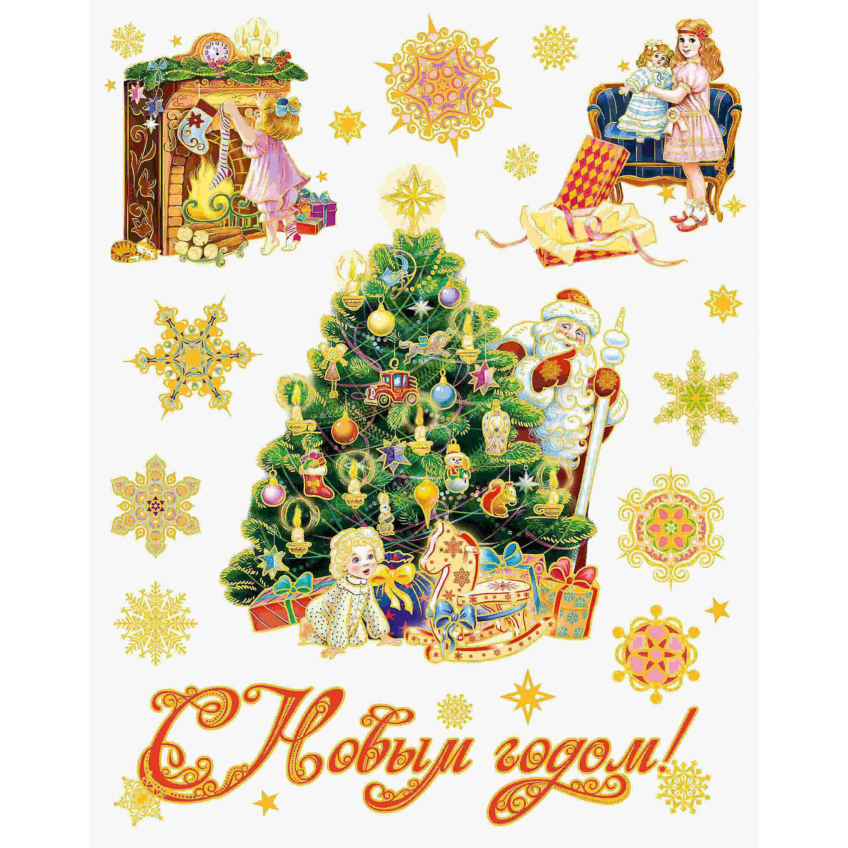 Новогодняя наклейка из ПВХ, 30х38см, Винтажный детский новый годВсё для праздника<br>Характеристики товара:<br><br>• крепится посредством статического эффекта<br>• размер: 30х38 см<br>• комплектация: 1 лист<br>• материал: ПВХ<br>• для украшения интерьера <br>• страна производства: Китай<br><br>Украшать окна к Новому году всей семьей - традиция во многих домах. Новогодний антураж трудно представить без снежинок или наклеек на окнах! Эта красивая наклейка будет отлично смотреться в окружении любой цветовой гаммы, она качественно выполнена и нарядно смотрится благодаря глиттеру. Крепится на окна с помощью статического эффекта и не оставляет следов! С помощью такой наклейки можно оригинально декорировать квартиру к празднику.<br>Такие небольшие детали и создают праздник! От них во многом зависит хорошее новогоднее настроение. Изделие производится из качественных сертифицированных материалов, безопасных даже для самых маленьких.<br><br>Новогоднюю наклейку из ПВХ, 30х38см, Винтажный детский новый год можно купить в нашем интернет-магазине.<br><br>Ширина мм: 420<br>Глубина мм: 300<br>Высота мм: 2<br>Вес г: 30<br>Возраст от месяцев: 72<br>Возраст до месяцев: 480<br>Пол: Унисекс<br>Возраст: Детский<br>SKU: 5051680