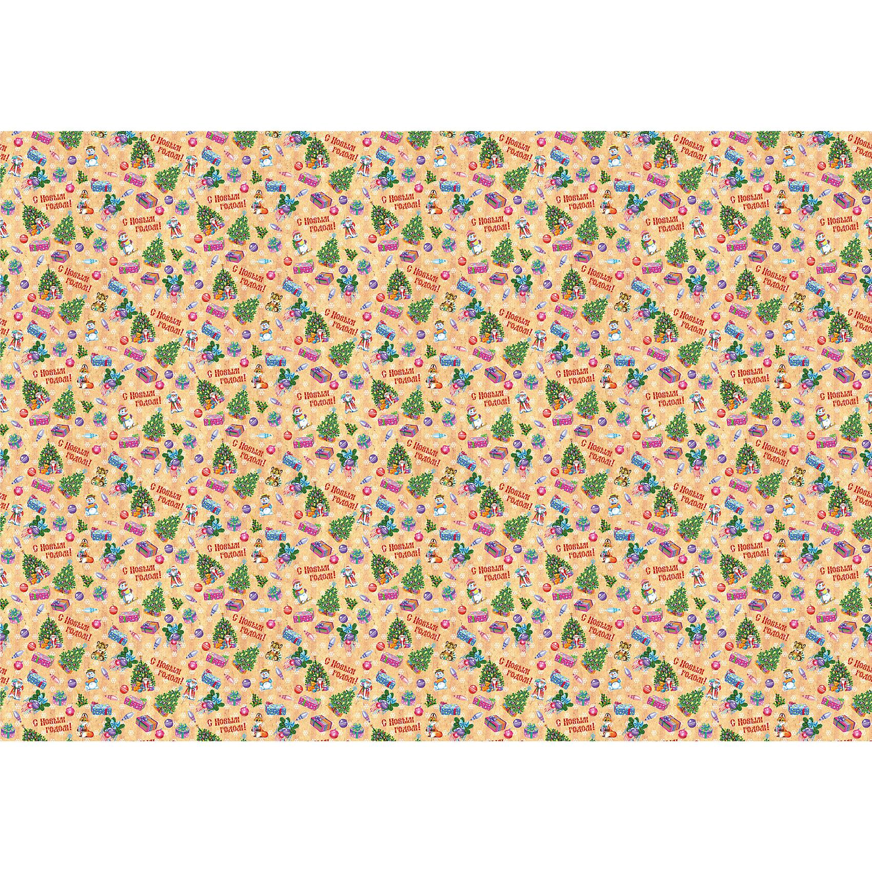 Новогодняя упаковочная бумага в рулонах Елка и снеговик, полноцветная 100x70смНовогодняя упаковочная бумага<br>Характеристики товара:<br><br>• размер: 100х70 мм<br>• комплектация: 1 шт<br>• материал: бумага<br>• с орнаментом<br>• страна производства: Китай<br><br>Подарки в красивых упаковках - неотъемлемая часть приятных новогодних ритуалов! Эта подарочная бумага будет отлично смотреться в под ёлкой, она качественно выполнена и нарядно выглядит благодаря яркому рисунку. С такой упаковкой подарок будет и дарить и принимать приятнее! Продаётся в листах размером 100х70 сантиметров.<br>Такие небольшие детали и создают праздник! От них во многом зависит хорошее новогоднее настроение. Изделие производится из качественных сертифицированных материалов, безопасных даже для самых маленьких.<br><br>Новогоднюю упаковочную бумагу в рулонах Елка и снеговик, полноцветная 100x70см можно купить в нашем интернет-магазине.<br><br>Ширина мм: 700<br>Глубина мм: 1000<br>Высота мм: 20<br>Вес г: 300<br>Возраст от месяцев: 72<br>Возраст до месяцев: 480<br>Пол: Унисекс<br>Возраст: Детский<br>SKU: 5051710
