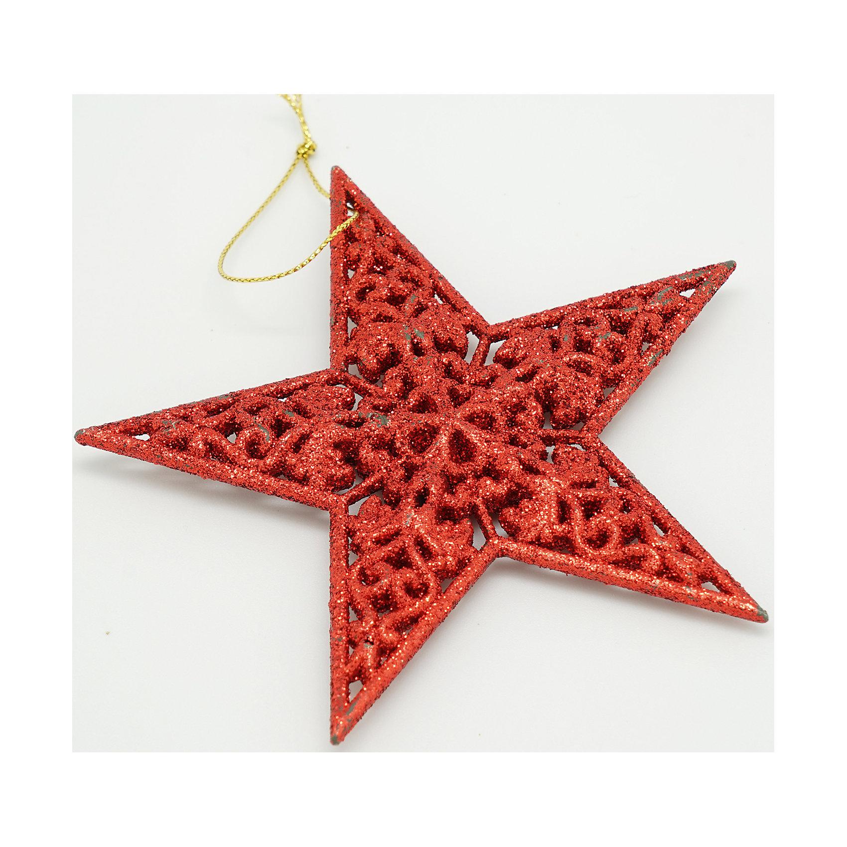 Декоративное подвесное украшение из пластика в глиттере Звезды объемныеХарактеристики товара:<br><br>• цвет: красный<br>• материал: акрил<br>• не бьётся<br>• в глиттере<br>• комплектация: 1 шт<br>• с подвесом<br>• для украшения интерьера или ёлки<br>• страна производства: Китай<br><br>Украшение ёлки и интерьера - любимое занятие детей и взрослых. Новогодний антураж трудно представить без сияющих подвесных украшений! Это изделие будет хорошо смотреться в окружении любой цветовой гаммы, оно качественно выполнено и нарядно выглядит. С помощью него можно оригинально декорировать квартиру к празднику или украсить ёлку, причем участвовать могут даже малыши - украшение не разобьется.<br>Такие небольшие детали и создают праздник! От них во многом зависит хорошее новогоднее настроение. Изделие производится из качественных сертифицированных материалов, безопасных даже для самых маленьких.<br><br>Декоративное подвесное украшение из пластика в глиттере Звезды объемные можно купить в нашем интернет-магазине.<br><br>Ширина мм: 80<br>Глубина мм: 80<br>Высота мм: 20<br>Вес г: 100<br>Возраст от месяцев: 72<br>Возраст до месяцев: 480<br>Пол: Унисекс<br>Возраст: Детский<br>SKU: 5051721