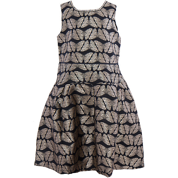 Нарядное платье для девочки LuminosoОдежда<br>Характеристики:<br><br>• Вид одежды: платье<br>• Предназначение: для праздника, для торжеств<br>• Сезон: круглый год<br>• Материал: верх – 70% полиэстер, 30% хлопок; подкладка – 100% хлопок<br>• Цвет: черный, золотой<br>• Силуэт: А стиль<br>• Длина платья: миди<br>• Вырез горловины: круглый, декорированный стразами<br>• Застежка: молния на спинке<br>• Особенности ухода: ручная стирка без применения отбеливающих средств, глажение при низкой температуре <br><br>Luminoso – это коллекция от известного производителя Sweet Berry, который сочетает в своей одежде функциональность, качество, стиль и следование современным мировым тенденциям в текстильной индустрии для подростков. <br>Стильное праздничное платье для девочки от знаменитого производителя детской одежды Luminoso выполнено из сочетания полиэстера с подкладкой из натурального хлопка. Платье классического А силуэта, отрезное по талии, юбка чуть присборена. У изделия круглая горловина, декорированная стразами. Дизайн ткани, из которого выполнено платье, представляет собой жаккардовый рисунок в форме золотистых бабочек. На спинке имеется застежка-молния до талии. Одежда от Luminoso – это залог успеха вашего ребенка на любом празднике иди торжестве!<br><br>Платье для девочки Luminoso можно купить в нашем интернет-магазине.<br>Ширина мм: 236; Глубина мм: 16; Высота мм: 184; Вес г: 177; Цвет: черный; Возраст от месяцев: 96; Возраст до месяцев: 108; Пол: Женский; Возраст: Детский; Размер: 134,140,164,158,152,146; SKU: 5052000;