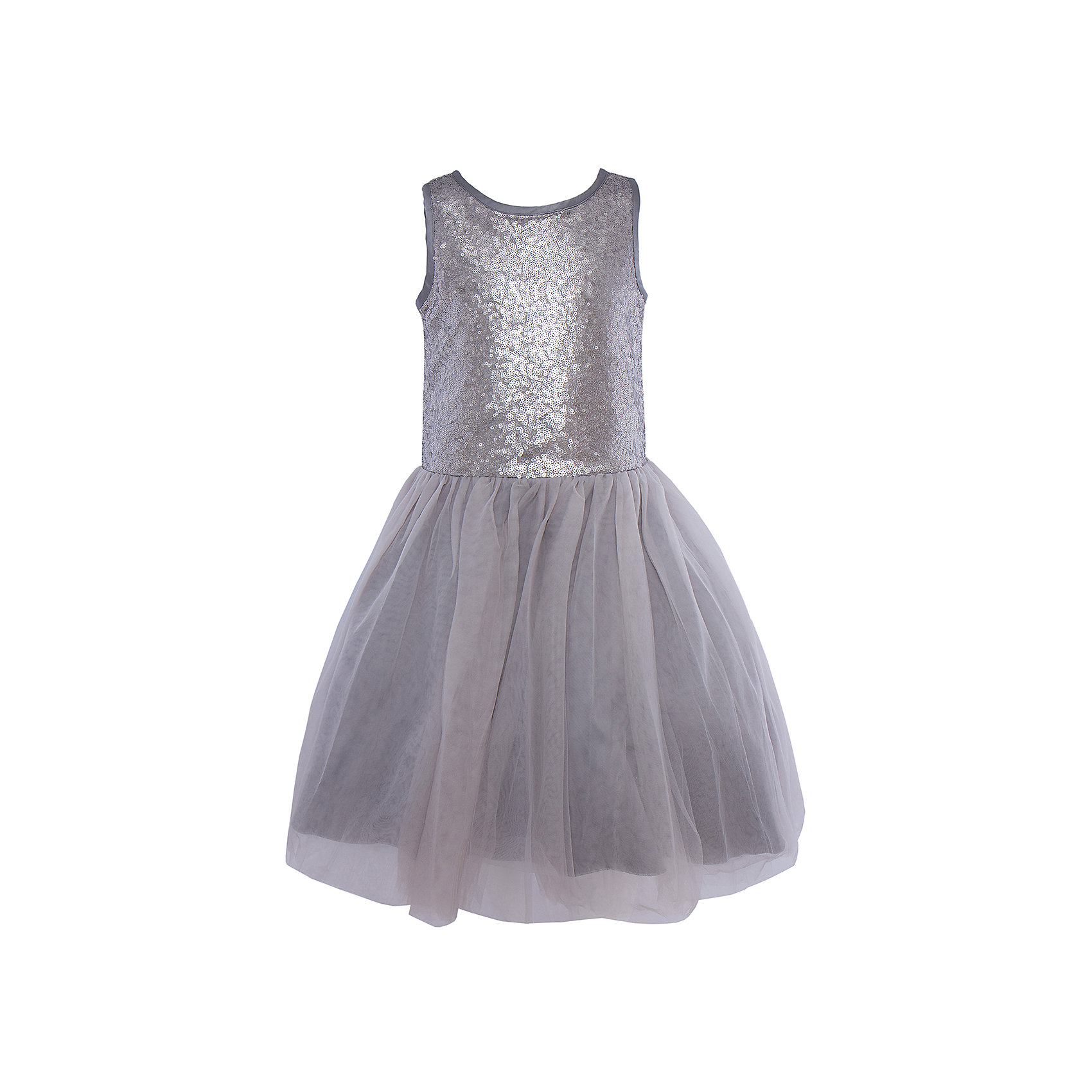 Нарядное платье для девочки LuminosoХарактеристики:<br><br>• Вид одежды: платье<br>• Предназначение: для праздника, торжеств<br>• Сезон: круглый год<br>• Материал: верх – 100% полиэстер; подкладка – 100% хлопок<br>• Цвет: серебристый, серый<br>• Силуэт: классический А-силуэт<br>• Длина платья: миди<br>• Стиль юбки: пачка<br>• Вырез горловины: круглый<br>• Застежка: молния на спинке<br>• Особенности ухода: ручная стирка без применения отбеливающих средств, глажение при низкой температуре <br><br>Luminoso – это коллекция от известного производителя Sweet Berry, который сочетает в своей одежде функциональность, качество, стиль и следование современным мировым тенденциям в текстильной индустрии для подростков. <br>Стильное платье для девочки от знаменитого производителя детской одежды Luminoso выполнено из полиэстера с хлопковой подкладкой. Изделие имеет классический силуэт с отрезной талией и многослойную юбку-пачку со шлейфом. Пышность и объем юбке придает подъюбник. Полочка оформлена пайетками серебристого цвета, вырез рукавов и горловины обработаны атласной лентой. Праздничное платье от Luminoso – это залог успеха вашего ребенка на любом торжестве!<br><br>Платье для девочки Luminoso можно купить в нашем интернет-магазине.<br><br>Ширина мм: 236<br>Глубина мм: 16<br>Высота мм: 184<br>Вес г: 177<br>Цвет: серый<br>Возраст от месяцев: 108<br>Возраст до месяцев: 120<br>Пол: Женский<br>Возраст: Детский<br>Размер: 140,134,146,152,158,164<br>SKU: 5052007