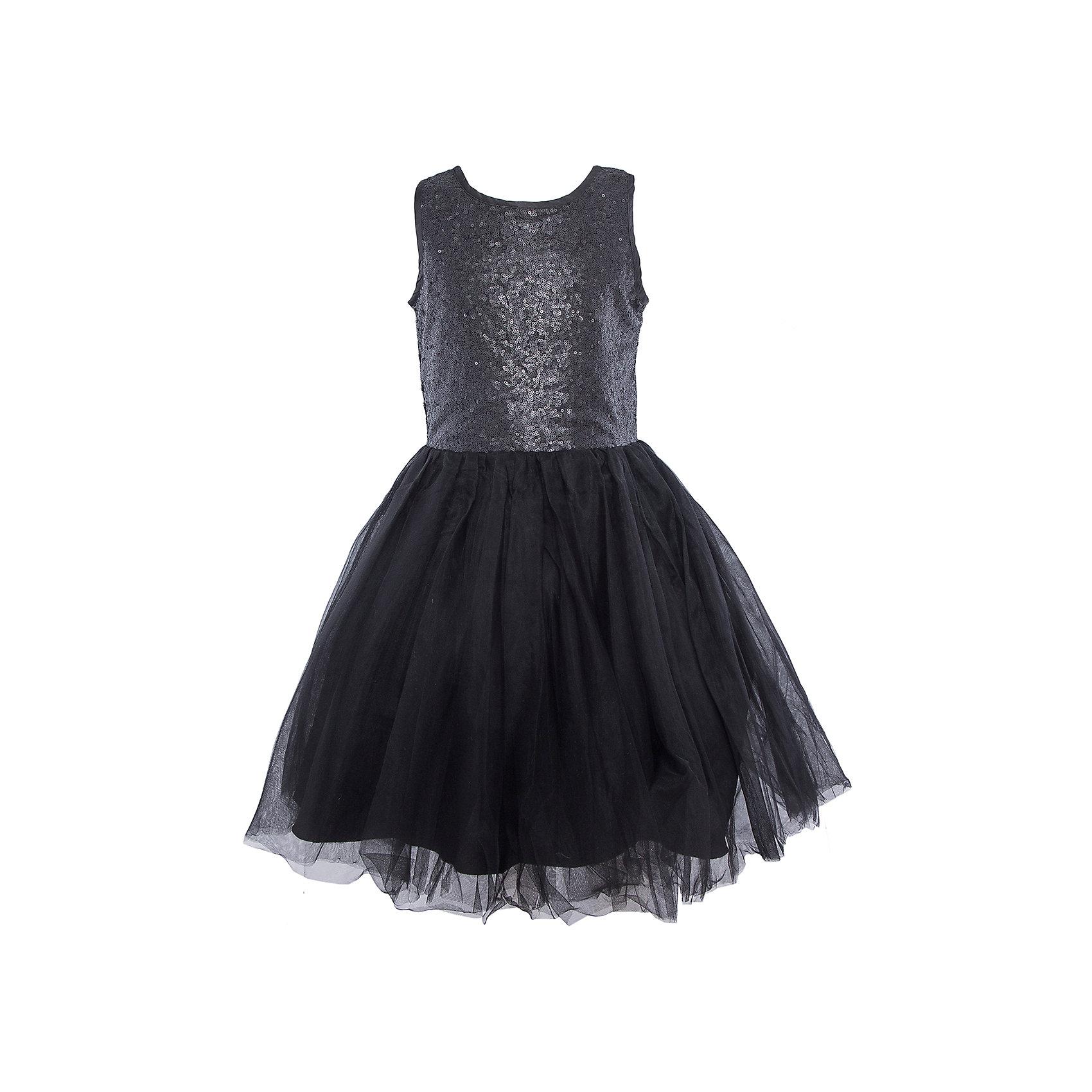 Нарядное платье для девочки LuminosoОдежда<br>Характеристики:<br><br>• Вид одежды: платье<br>• Предназначение: для праздника, торжеств<br>• Сезон: круглый год<br>• Материал: верх – 100% полиэстер; подкладка – 100% хлопок<br>• Цвет: черный<br>• Силуэт: классический А-силуэт<br>• Длина платья: миди<br>• Стиль юбки: пачка<br>• Вырез горловины: круглый<br>• Застежка: молния на спинке<br>• Особенности ухода: ручная стирка без применения отбеливающих средств, глажение при низкой температуре <br><br>Luminoso – это коллекция от известного производителя Sweet Berry, который сочетает в своей одежде функциональность, качество, стиль и следование современным мировым тенденциям в текстильной индустрии для подростков. <br>Стильное платье для девочки от знаменитого производителя детской одежды Luminoso выполнено из полиэстера с хлопковой подкладкой. Изделие имеет классический силуэт с отрезной талией и многослойную юбку-пачку со шлейфом. Пышность и объем юбке придает подъюбник. Полочка оформлена пайетками черного цвета, вырез рукавов и горловины обработаны атласной лентой. Праздничное платье от Luminoso – это залог успеха вашего ребенка на любом торжестве!<br><br>Платье для девочки Luminoso можно купить в нашем интернет-магазине.<br><br>Ширина мм: 236<br>Глубина мм: 16<br>Высота мм: 184<br>Вес г: 177<br>Цвет: черный<br>Возраст от месяцев: 96<br>Возраст до месяцев: 108<br>Пол: Женский<br>Возраст: Детский<br>Размер: 134,140,146,152,158,164<br>SKU: 5052014