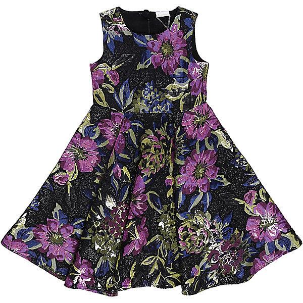 Нарядное платье для девочки LuminosoОдежда<br>Характеристики:<br><br>• Вид одежды: платье<br>• Предназначение: для праздника, торжеств<br>• Сезон: круглый год<br>• Материал: верх – 100% полиэстер; подкладка – 100% хлопок<br>• Цвет: лиловый, черный, синий, зеленый<br>• Силуэт: классический, с завышенной талией<br>• Длина: миди<br>• Вырез горловины: круглый<br>• Застежка: молния на спинке<br>• Особенности ухода: ручная стирка без применения отбеливающих средств, глажение при низкой температуре <br><br>Luminoso – это коллекция от известного производителя Sweet Berry, который сочетает в своей одежде функциональность, качество, стиль и следование современным мировым тенденциям в текстильной индустрии для подростков. <br>Платье для девочки от знаменитого производителя детской одежды Sweet Berry выполнено из полиэстера с хлопковой подкладкой. Изделие имеет классический силуэт с завышенной талией, круглую горловину, пышную юбку-солнце и застежку-молнию на спинке. Изделие выполнено из ткани, имеющей жаккардовый узор с цветочным рисунком. Праздничное платье от Luminoso – это залог успеха вашего ребенка на любом торжестве!<br><br>Платье для девочки Luminoso можно купить в нашем интернет-магазине.<br>Ширина мм: 236; Глубина мм: 16; Высота мм: 184; Вес г: 177; Цвет: лиловый; Возраст от месяцев: 120; Возраст до месяцев: 132; Пол: Женский; Возраст: Детский; Размер: 146,164,140,134,158,152; SKU: 5052021;