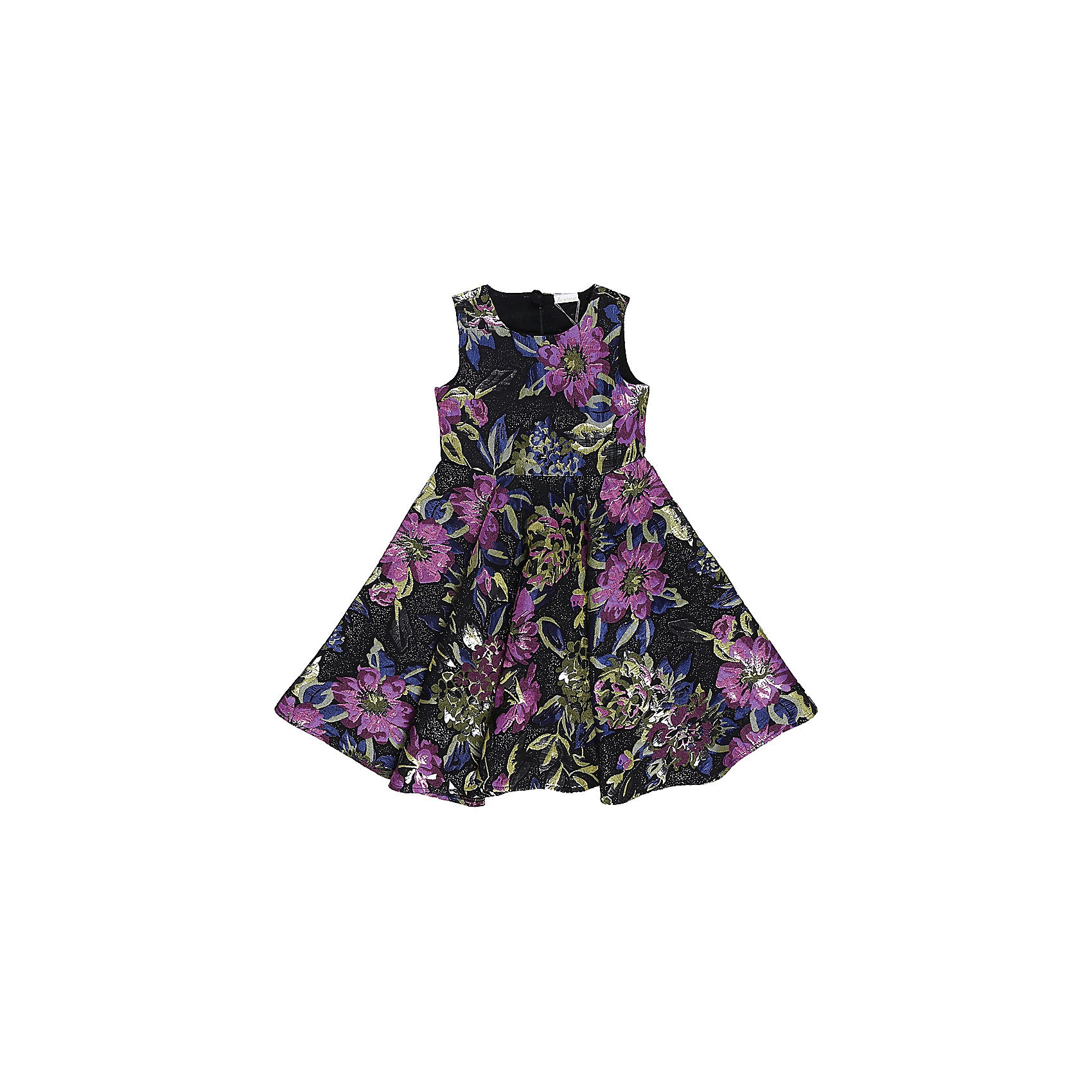 Нарядное платье для девочки LuminosoОдежда<br>Характеристики:<br><br>• Вид одежды: платье<br>• Предназначение: для праздника, торжеств<br>• Сезон: круглый год<br>• Материал: верх – 100% полиэстер; подкладка – 100% хлопок<br>• Цвет: лиловый, черный, синий, зеленый<br>• Силуэт: классический, с завышенной талией<br>• Длина: миди<br>• Вырез горловины: круглый<br>• Застежка: молния на спинке<br>• Особенности ухода: ручная стирка без применения отбеливающих средств, глажение при низкой температуре <br><br>Luminoso – это коллекция от известного производителя Sweet Berry, который сочетает в своей одежде функциональность, качество, стиль и следование современным мировым тенденциям в текстильной индустрии для подростков. <br>Платье для девочки от знаменитого производителя детской одежды Sweet Berry выполнено из полиэстера с хлопковой подкладкой. Изделие имеет классический силуэт с завышенной талией, круглую горловину, пышную юбку-солнце и застежку-молнию на спинке. Изделие выполнено из ткани, имеющей жаккардовый узор с цветочным рисунком. Праздничное платье от Luminoso – это залог успеха вашего ребенка на любом торжестве!<br><br>Платье для девочки Luminoso можно купить в нашем интернет-магазине.<br><br>Ширина мм: 236<br>Глубина мм: 16<br>Высота мм: 184<br>Вес г: 177<br>Цвет: лиловый<br>Возраст от месяцев: 108<br>Возраст до месяцев: 120<br>Пол: Женский<br>Возраст: Детский<br>Размер: 140,134,146,152,158,164<br>SKU: 5052021